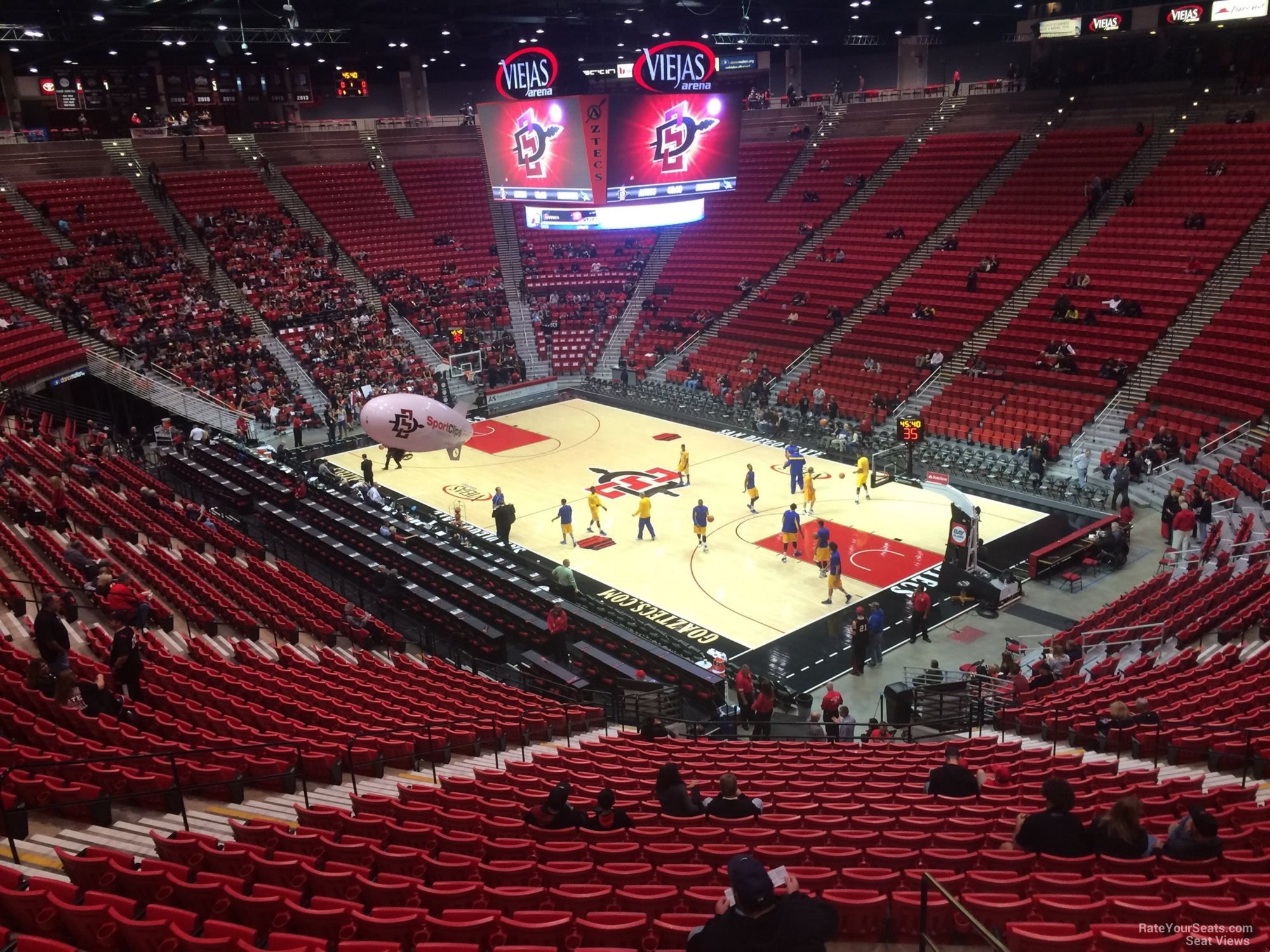 View from Section U Row 30 at Viejas Arena