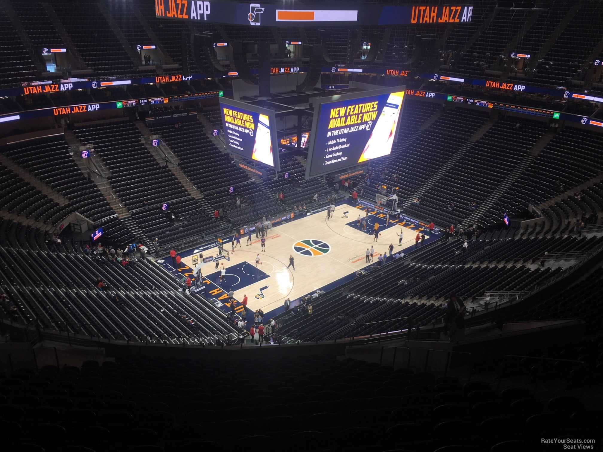 Seat View For Vivint Smart Home Arena Section 117