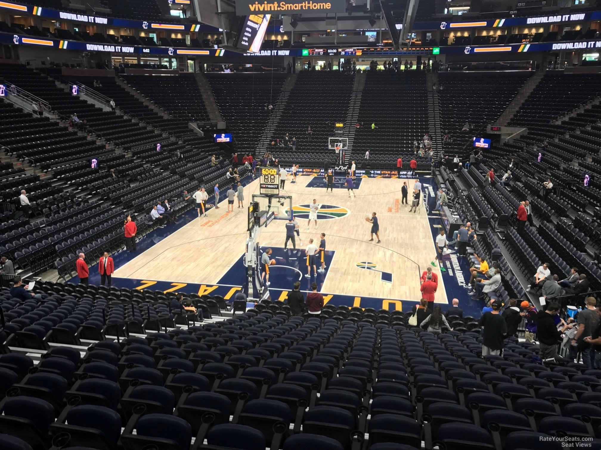 Seat View for Vivint Smart Home Arena Section 12, Row 20