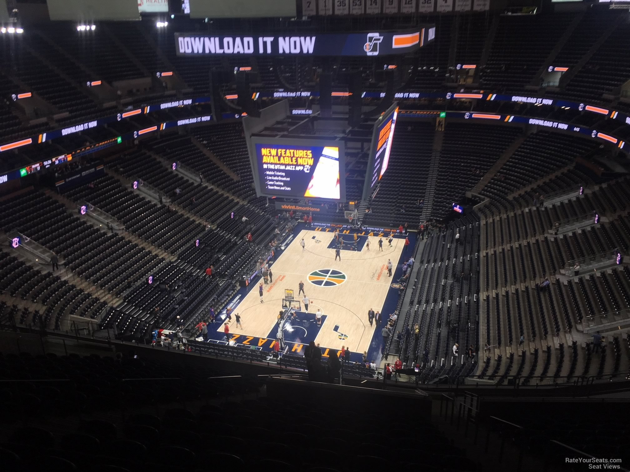 Seat View for Vivint Smart Home Arena Section 120, Row 12