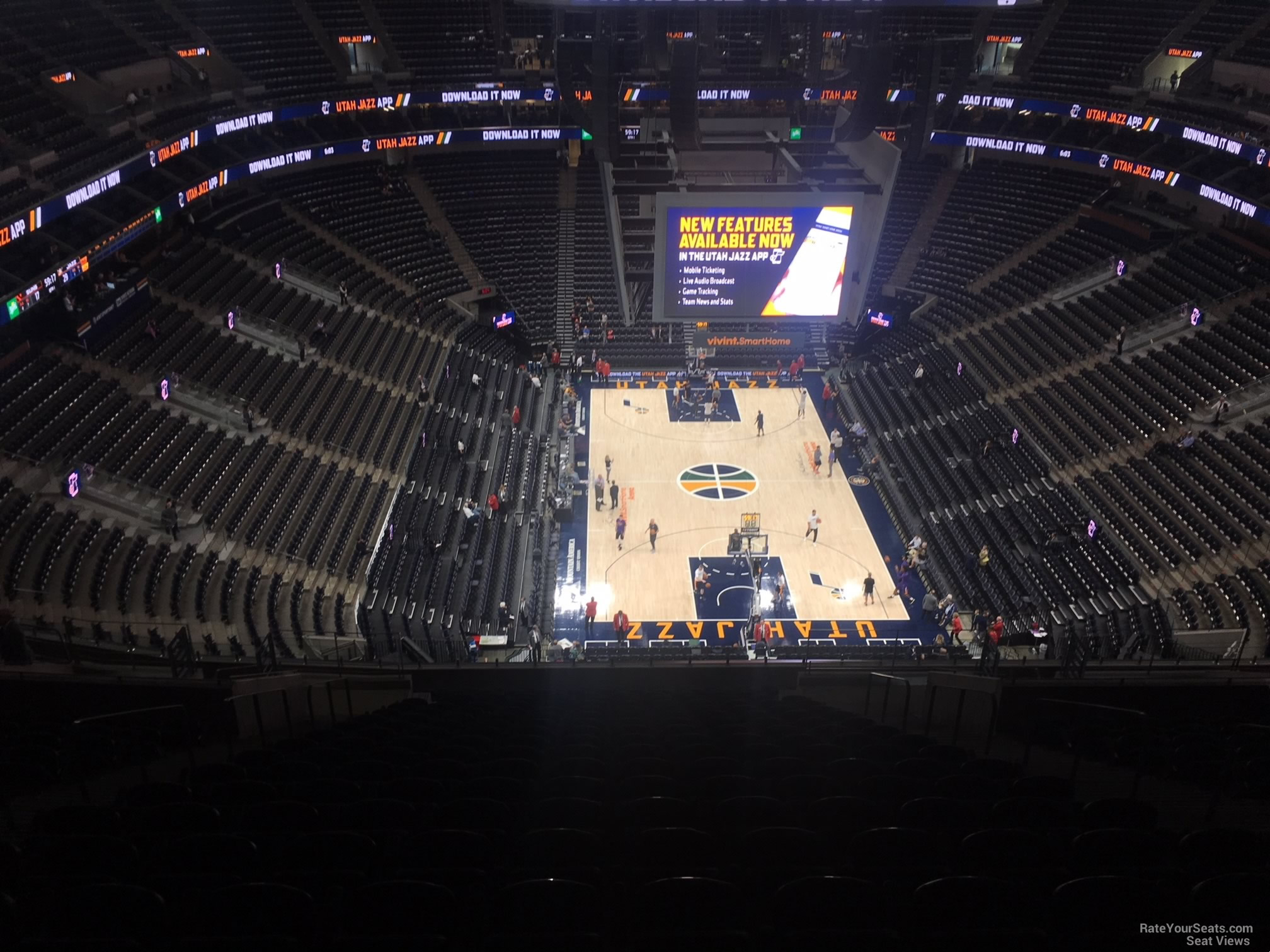 Seat View for Vivint Smart Home Arena Section 123, Row 12