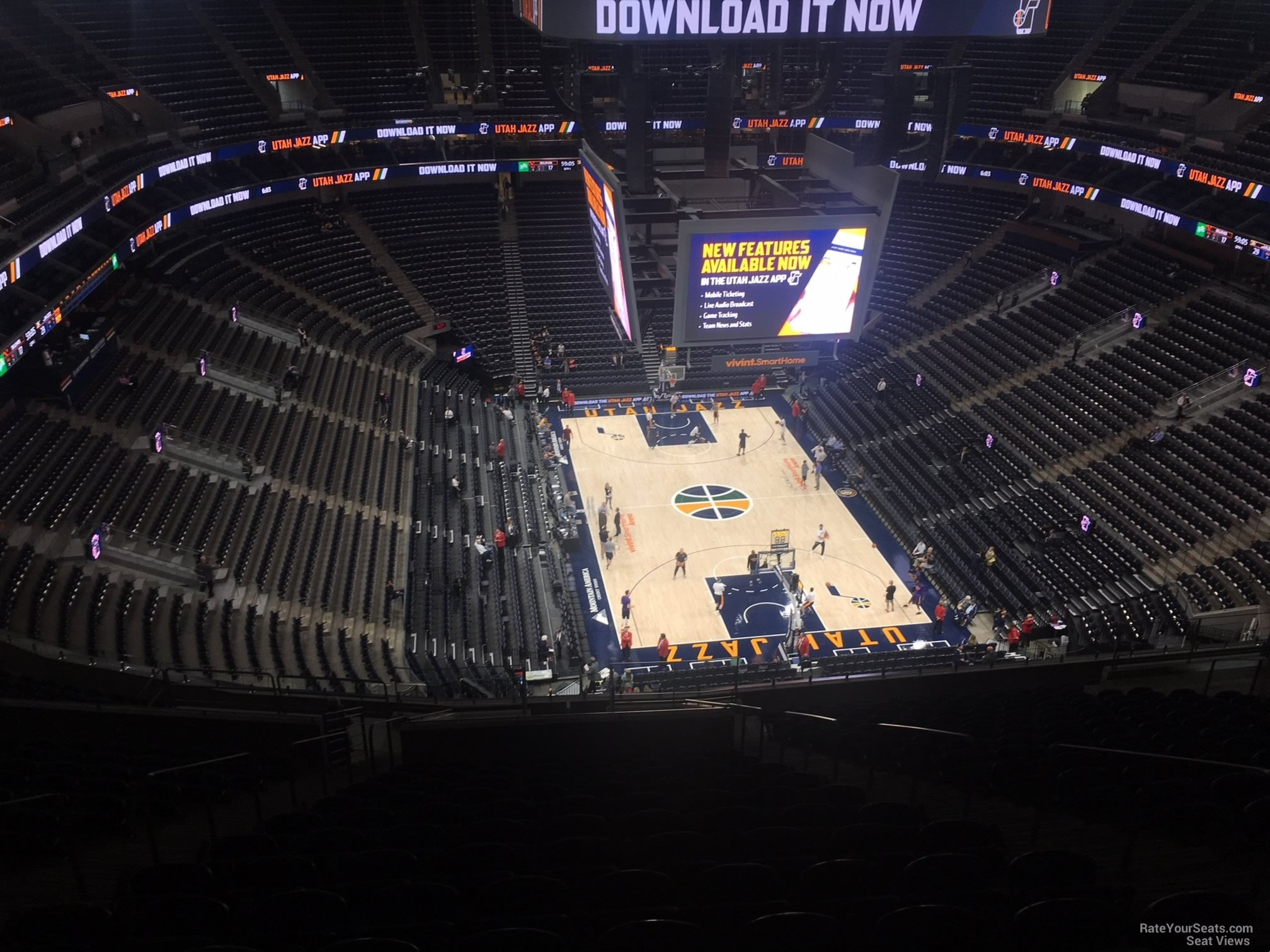 Seat View for Vivint Smart Home Arena Section 124, Row 12