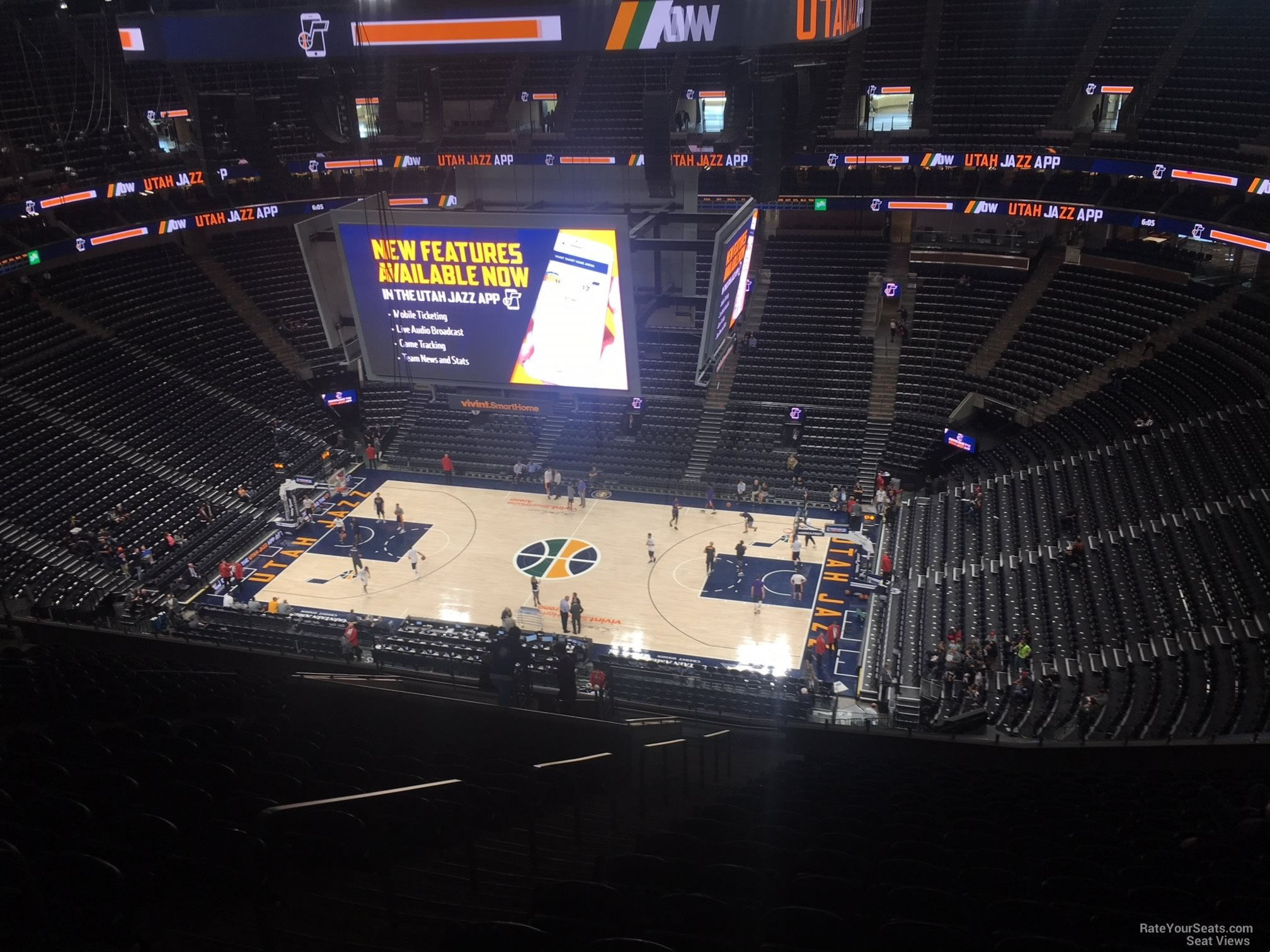 Seat View For Vivint Smart Home Arena Section 129