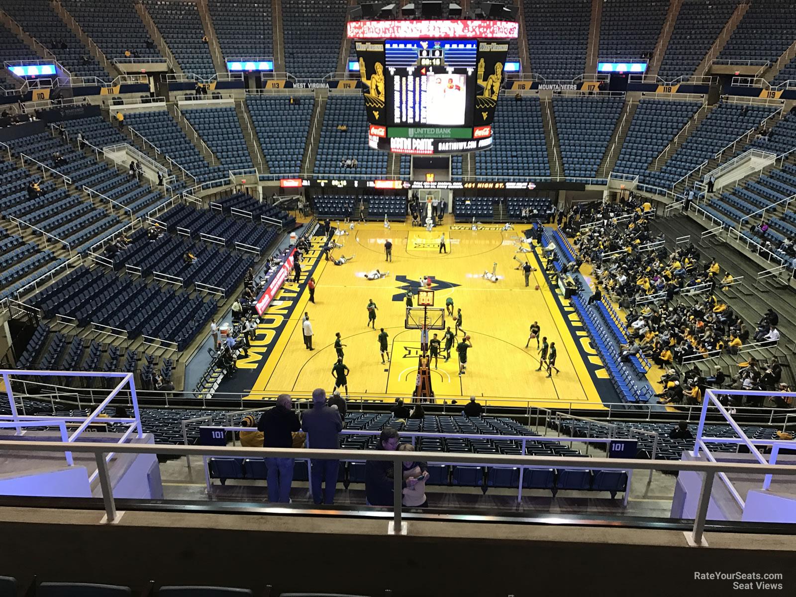 WVU Coliseum Section 201 - RateYourSeats.com