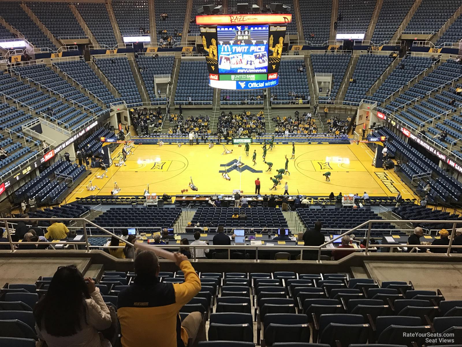 WVU Coliseum Section 211 - RateYourSeats.com