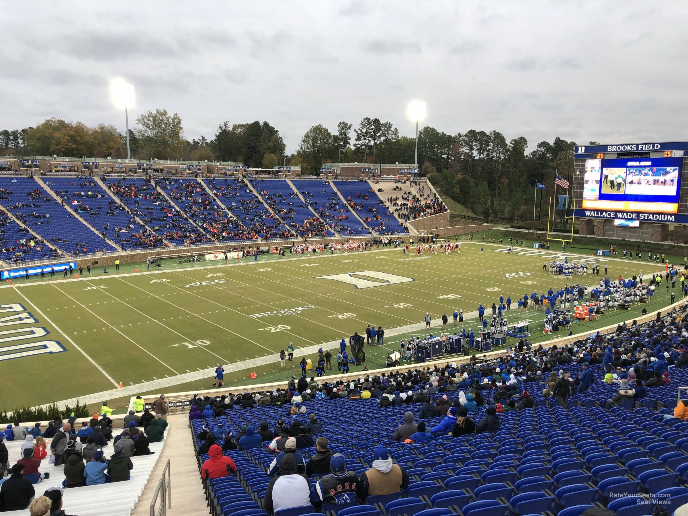 Seat View for Wallace Wade Stadium Section 22, Row PP