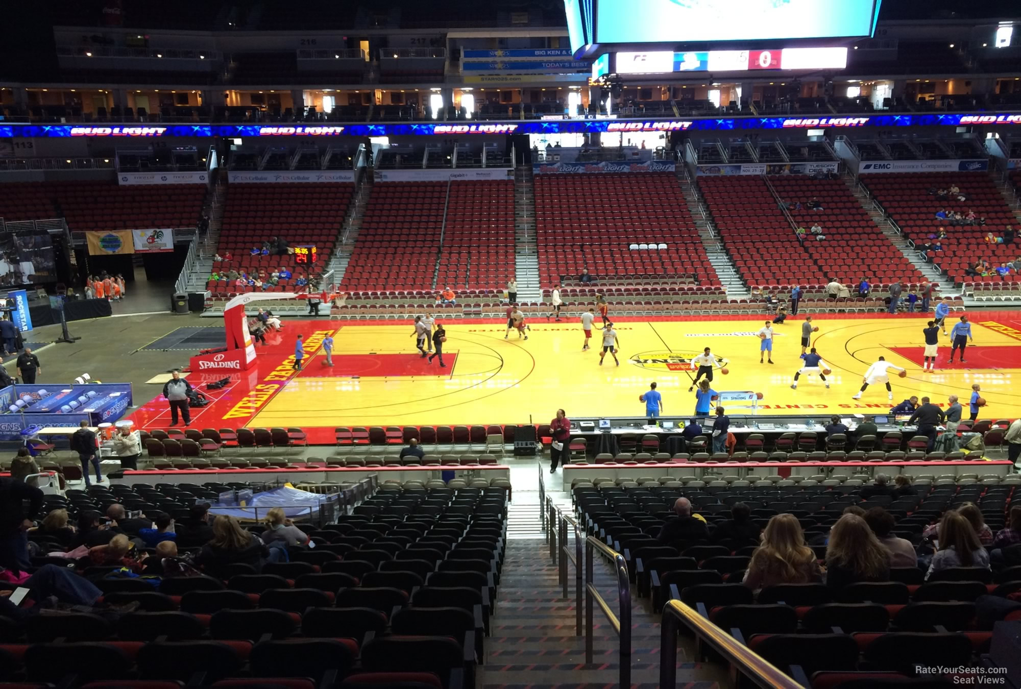 Wells Fargo Arena Des Moines Ia Section 104 Basketball Seating