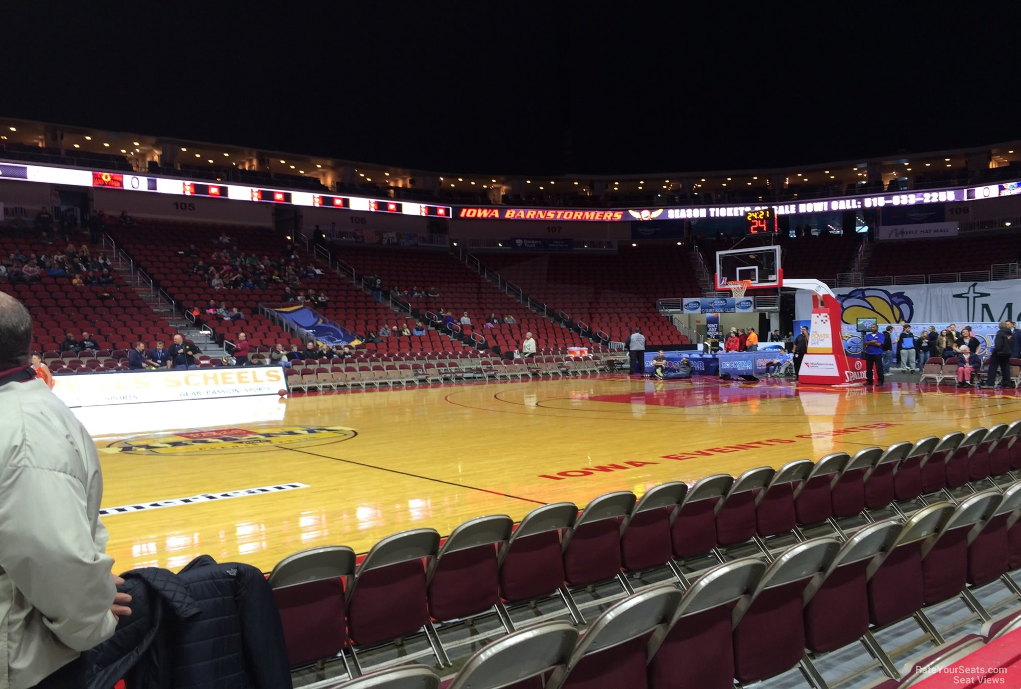 Wells Fargo Arena Des Moines Ia Section 116 Basketball Seating