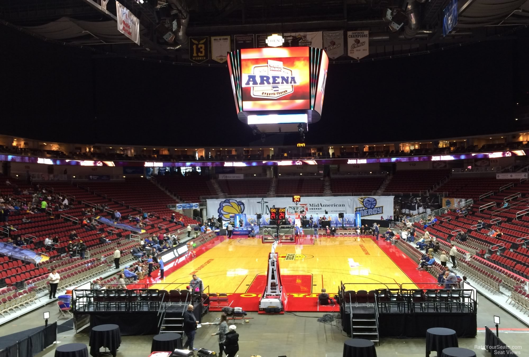 Seat View for Wells Fargo Arena Section 122, Row N