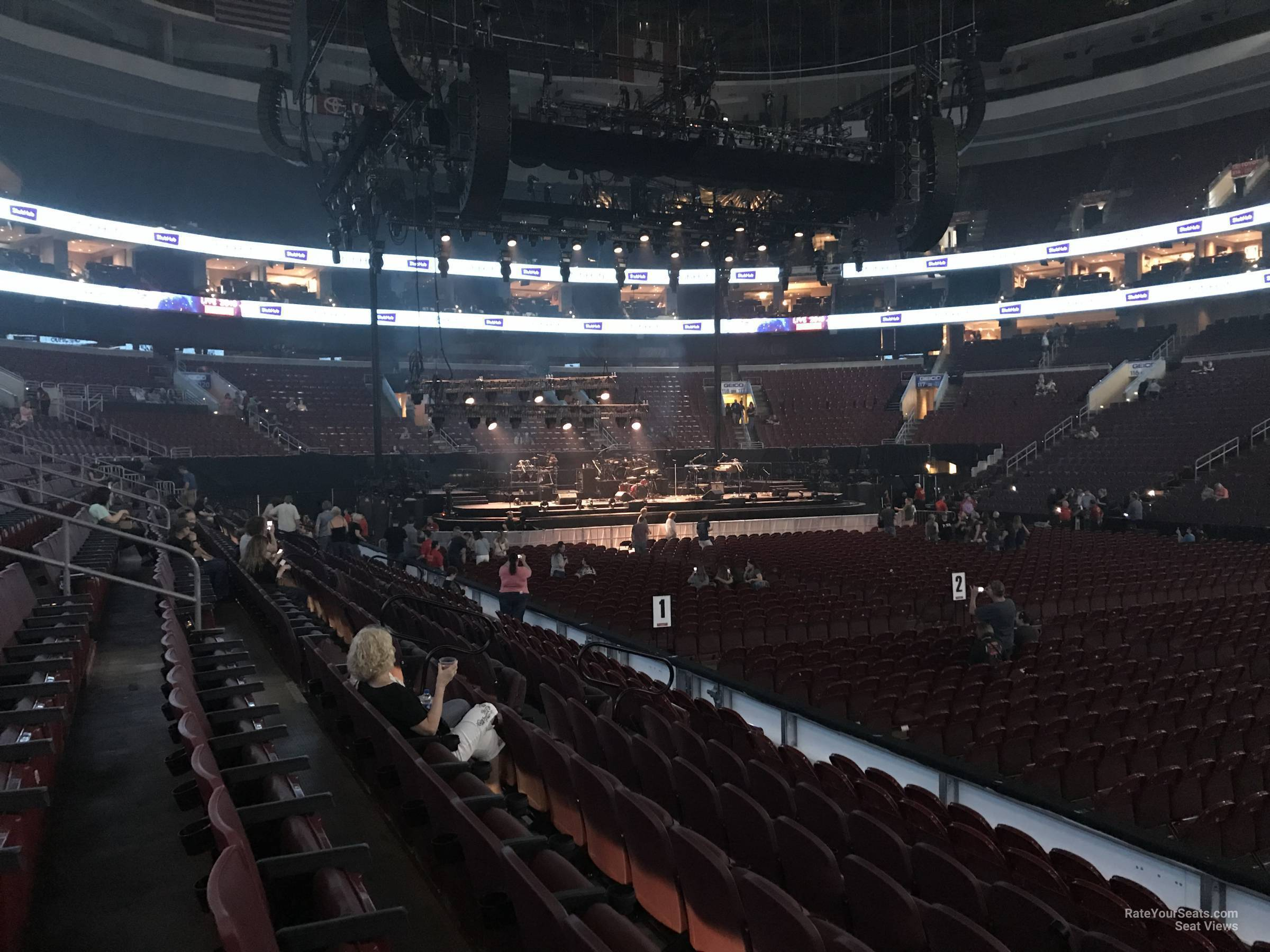 Concert Seat View for Wells Fargo Center Section 102