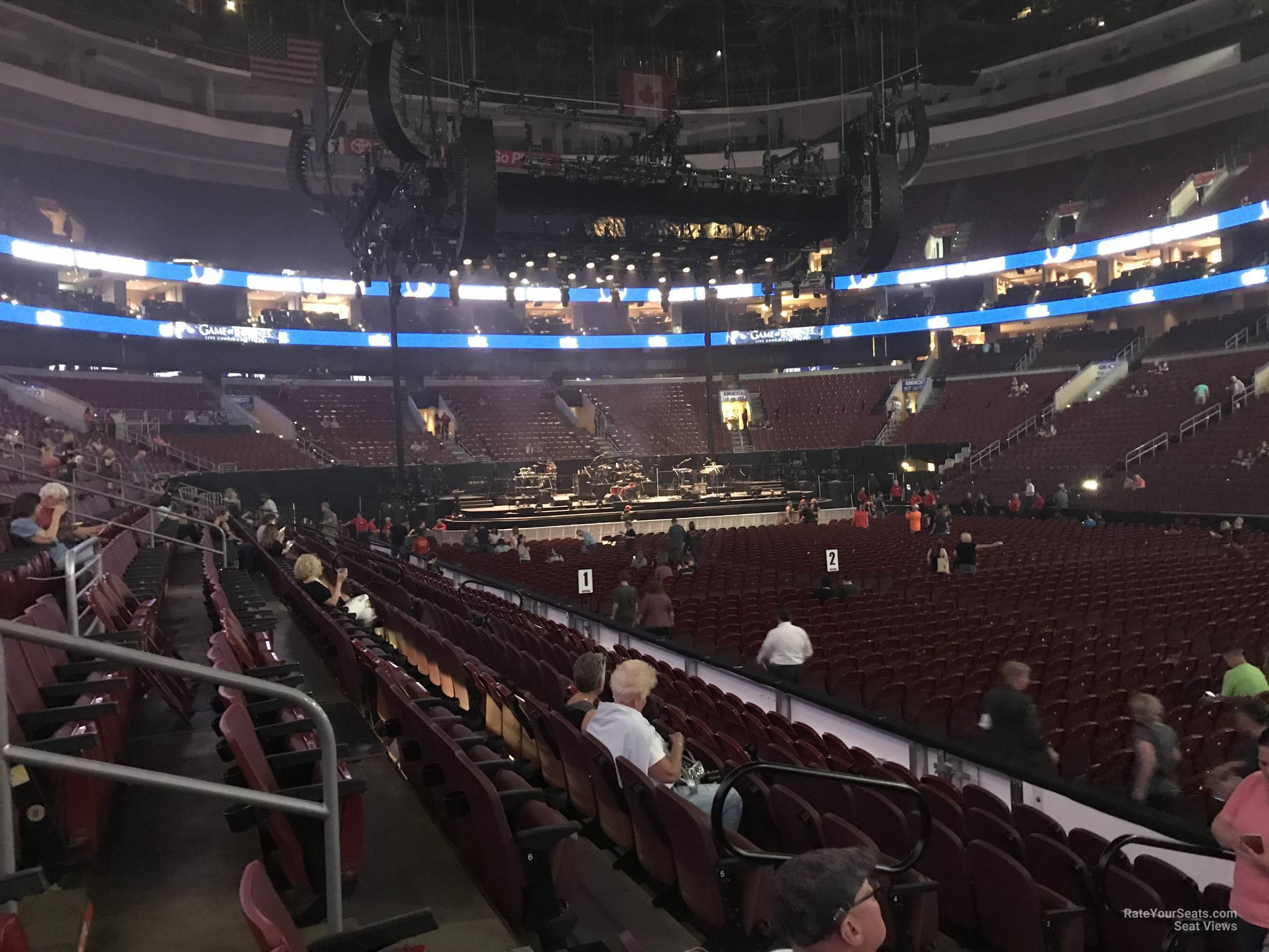 wells fargo center section 103 concert seating rateyourseats com