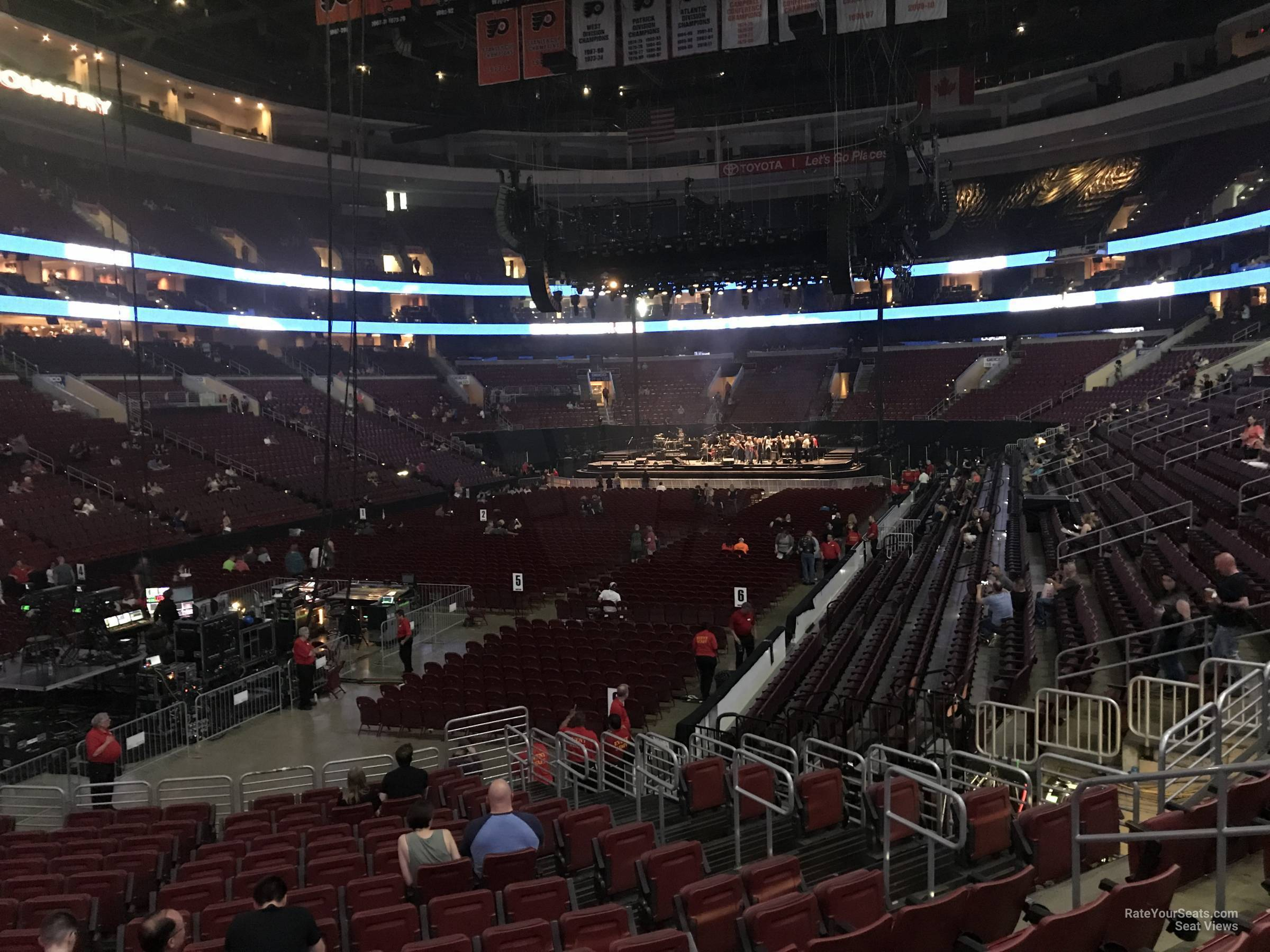 Concert Seat View for Wells Fargo Center Section 108