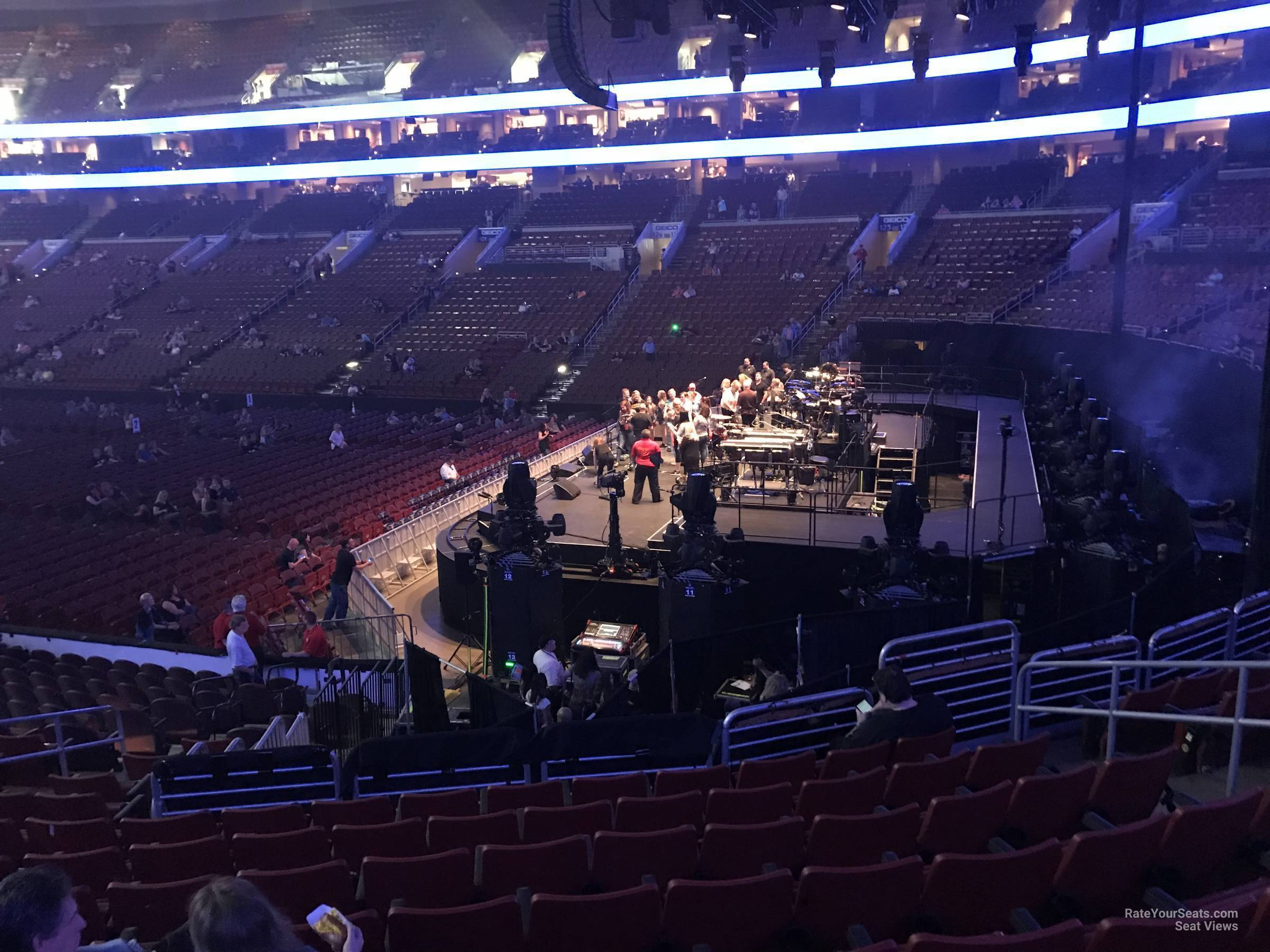 Concert Seat View for Wells Fargo Center Section 116