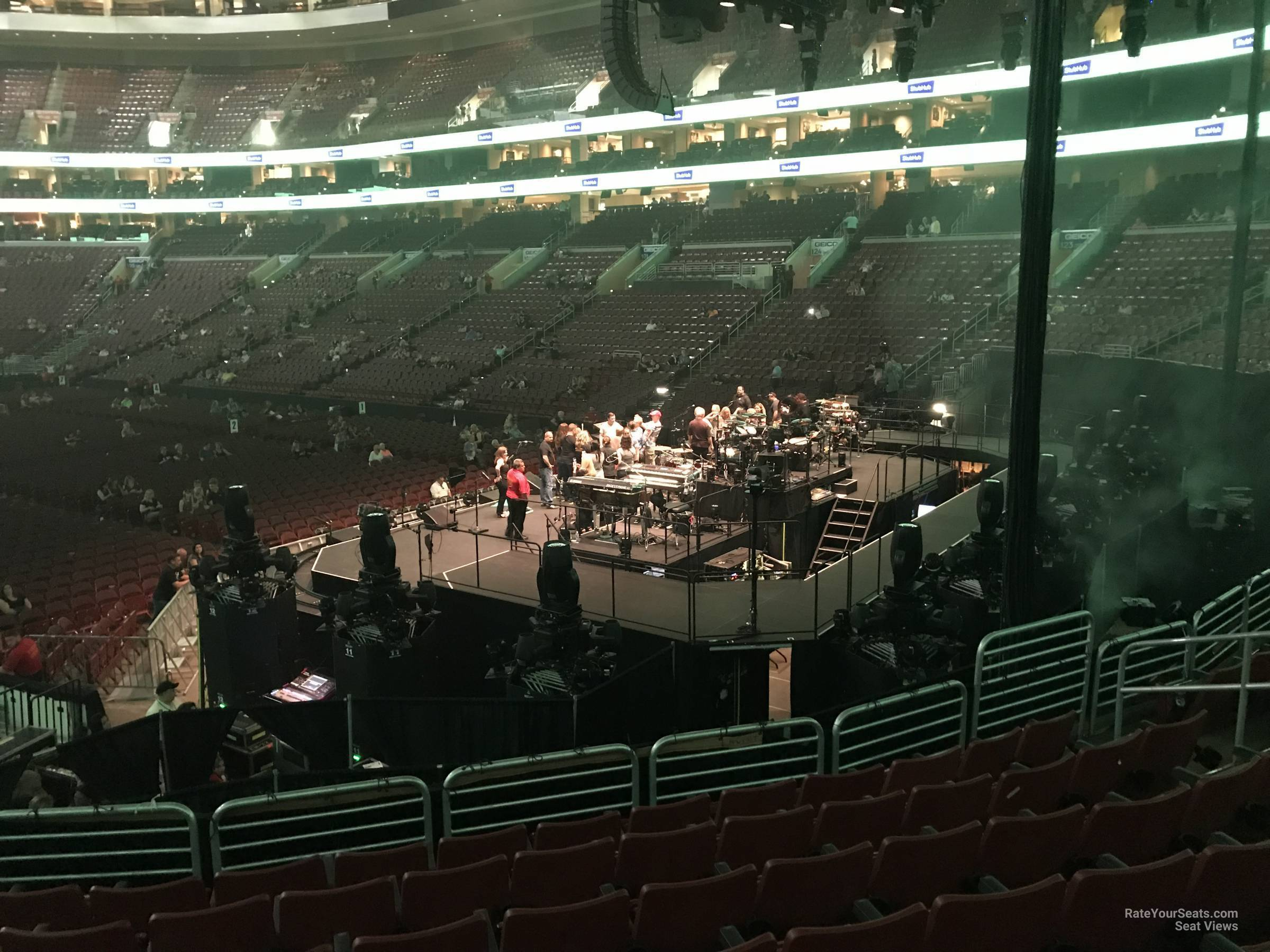 Concert Seat View for Wells Fargo Center Section 117