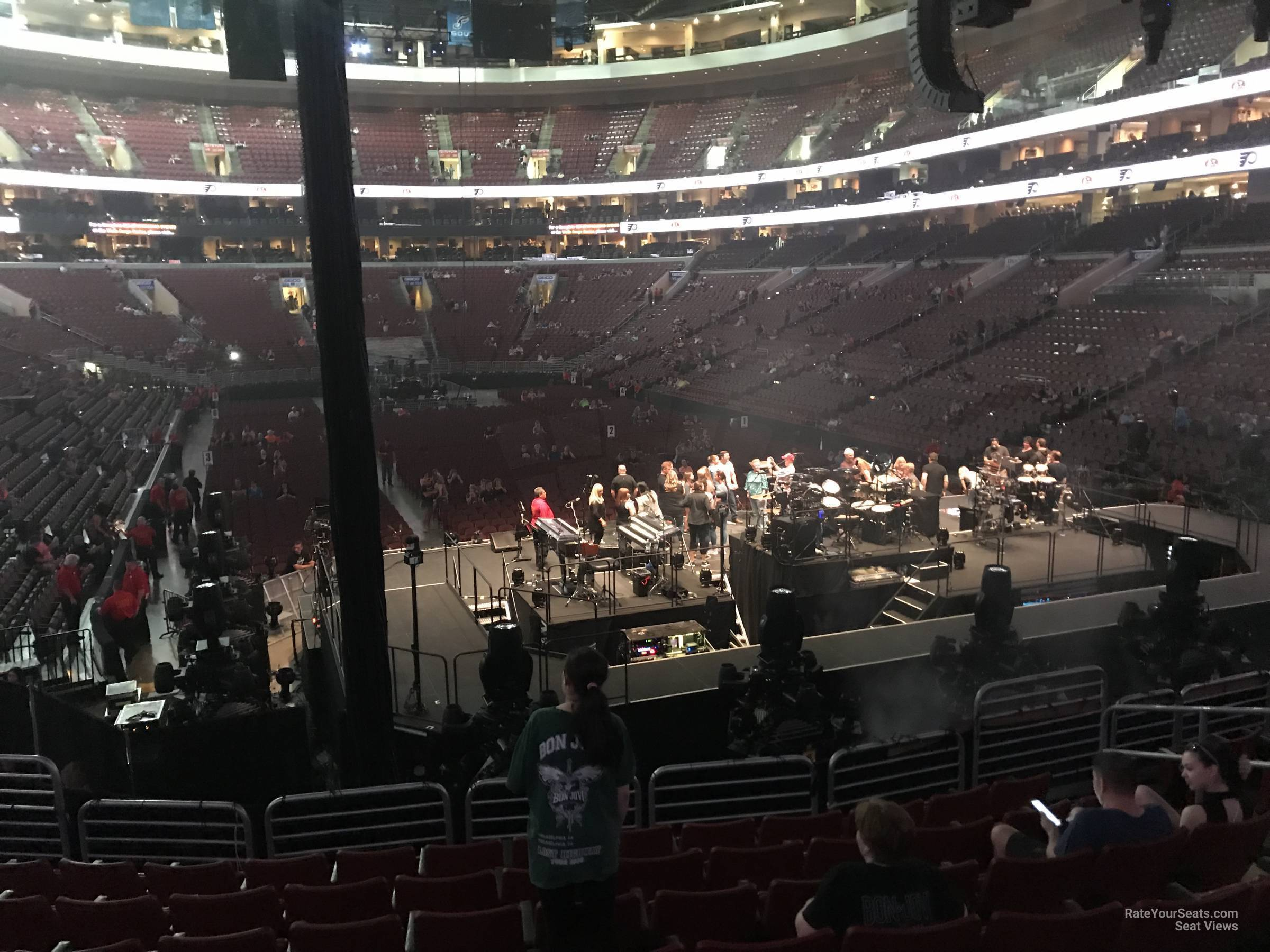 Concert Seat View for Wells Fargo Center Section 118