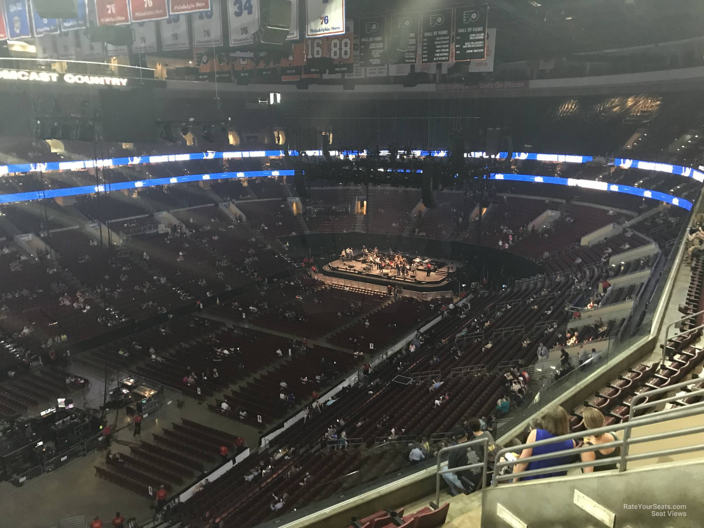 Concert Seat View for Wells Fargo Center Section 210