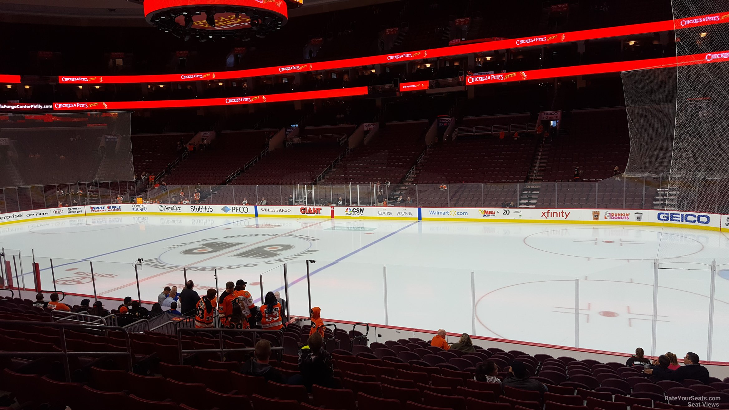 Philadelphia Flyers Seat View for Wells Fargo Center Section 103, Row 17