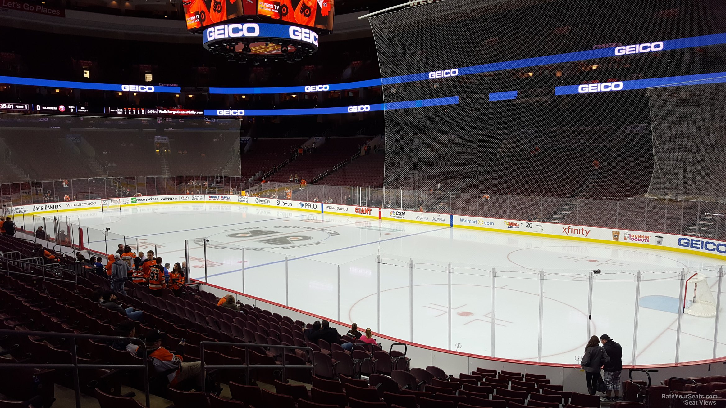 Philadelphia Flyers Seat View for Wells Fargo Center Section 104, Row 17