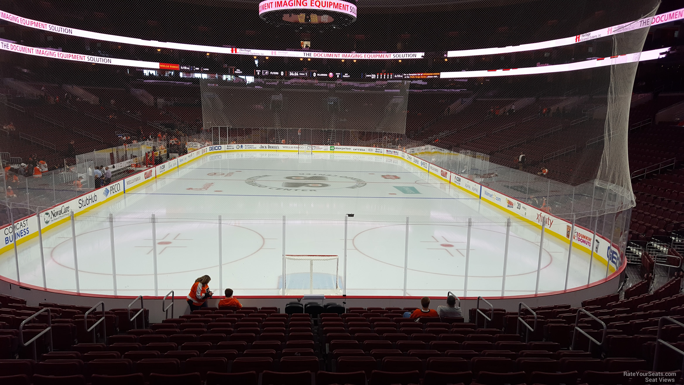 Philadelphia Flyers Seat View for Wells Fargo Center Section 107