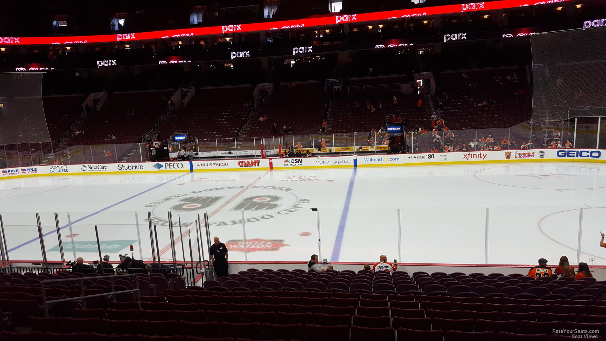 Philadelphia Flyers Seat View for Wells Fargo Center Section 114, Row 17