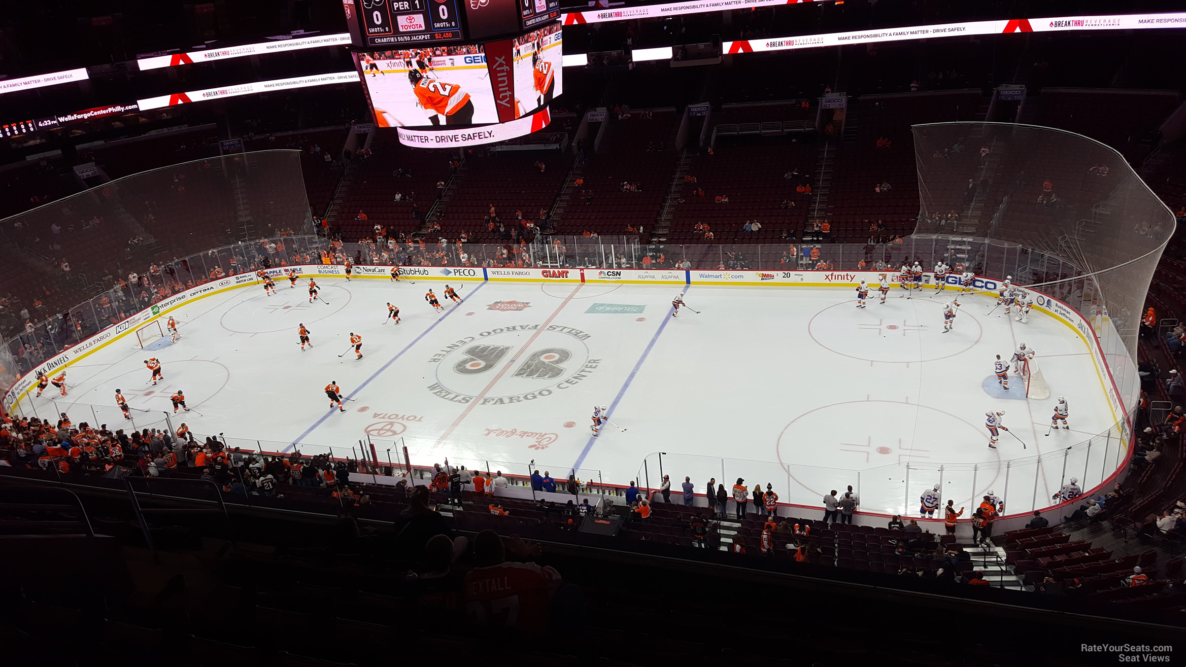 Philadelphia Flyers Seat View for Wells Fargo Center Section 203, Row 8