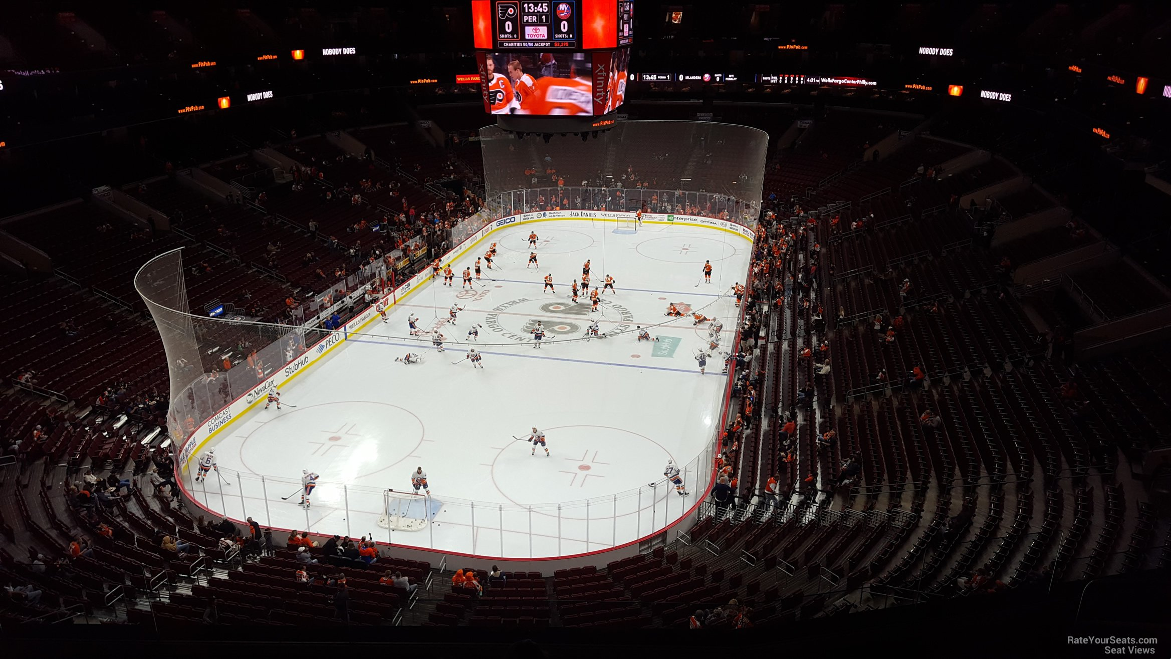 Philadelphia Flyers Seat View for Wells Fargo Center Section 208, Row 8