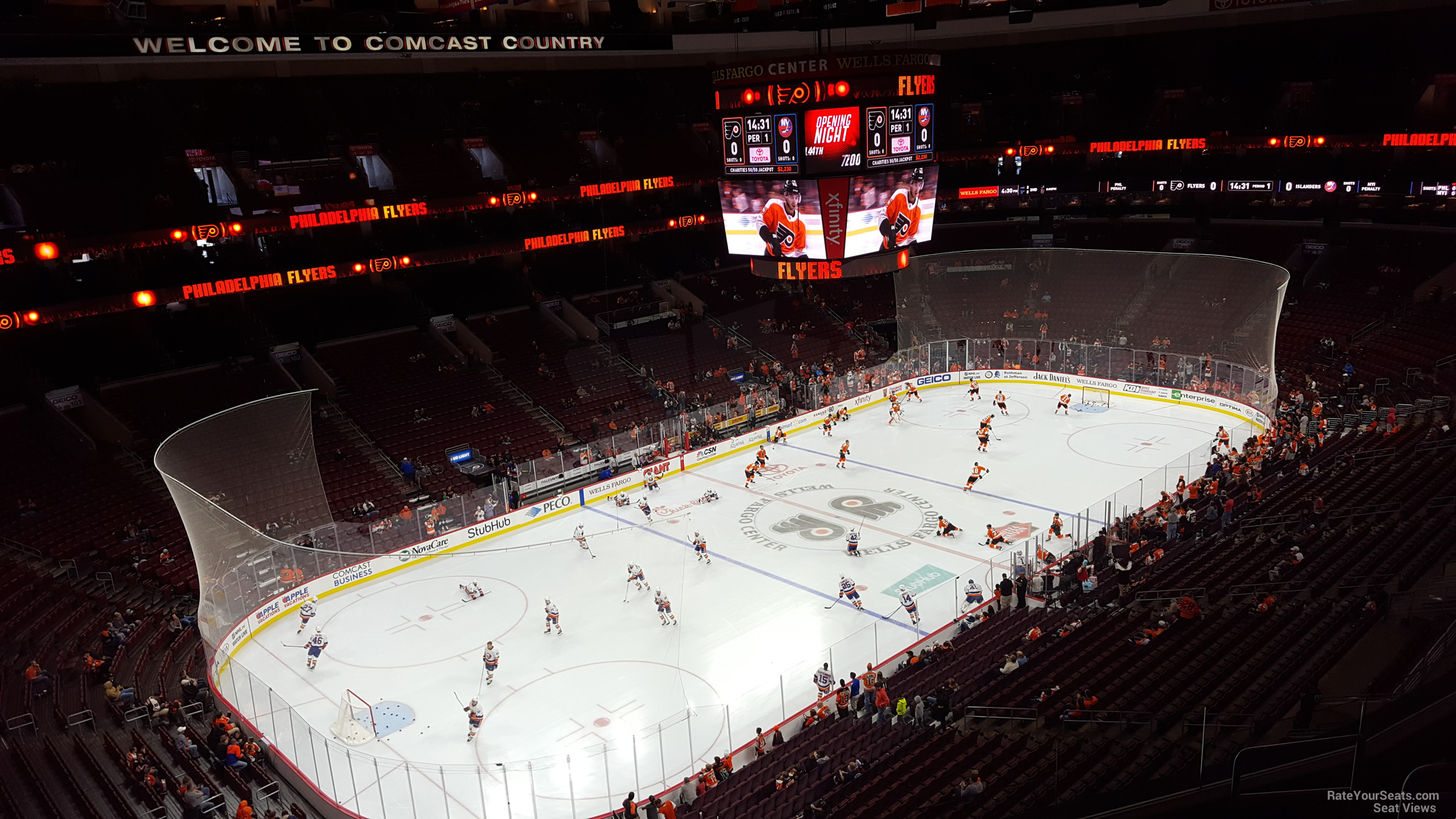 Philadelphia Flyers Seat View for Wells Fargo Center Section 210