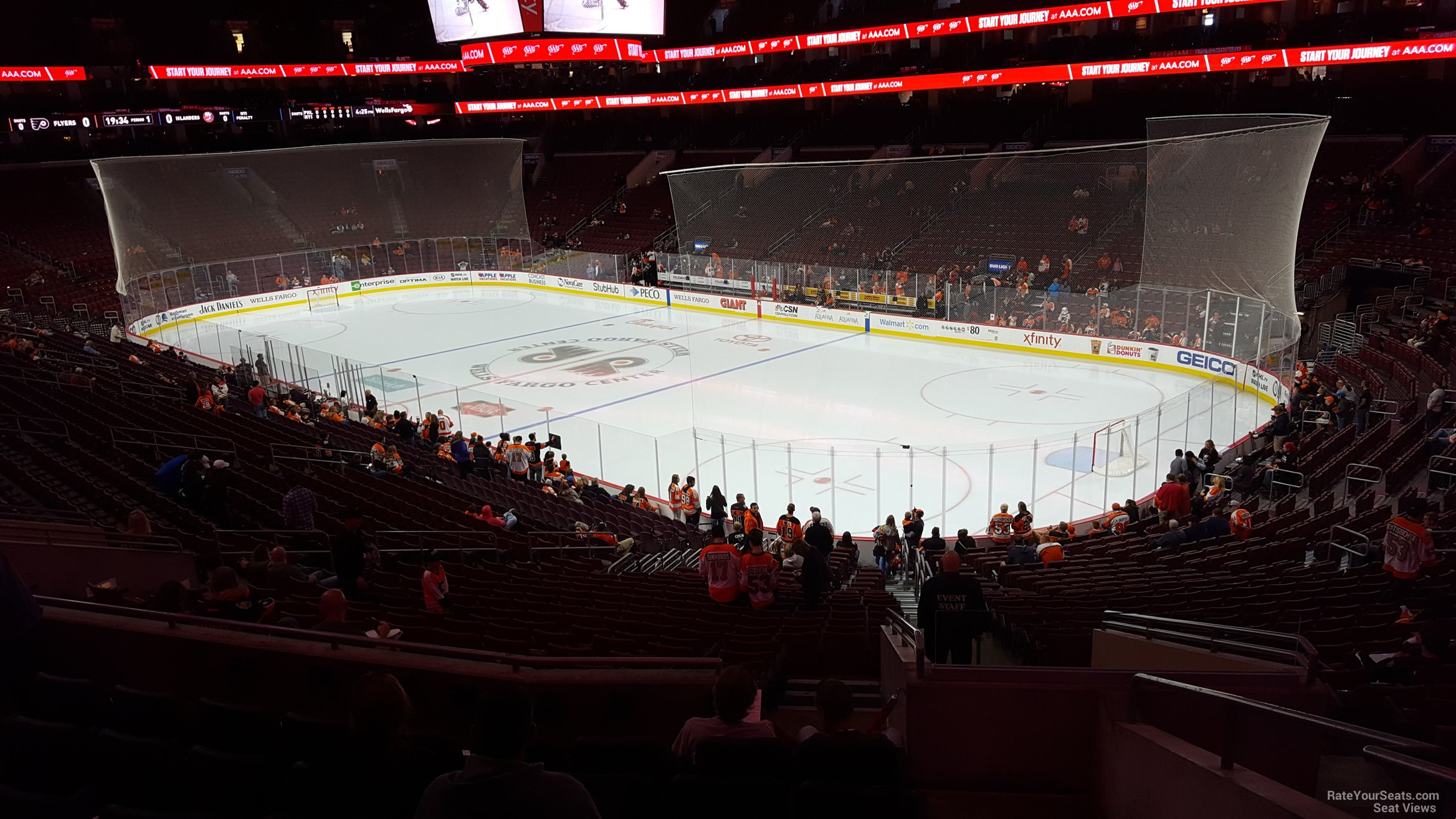 Philadelphia Flyers Seat View for Wells Fargo Center Club Box 16