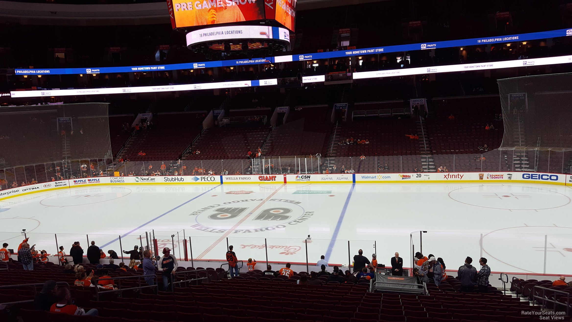 philadelphia flyers seat view for wells fargo center club box 2