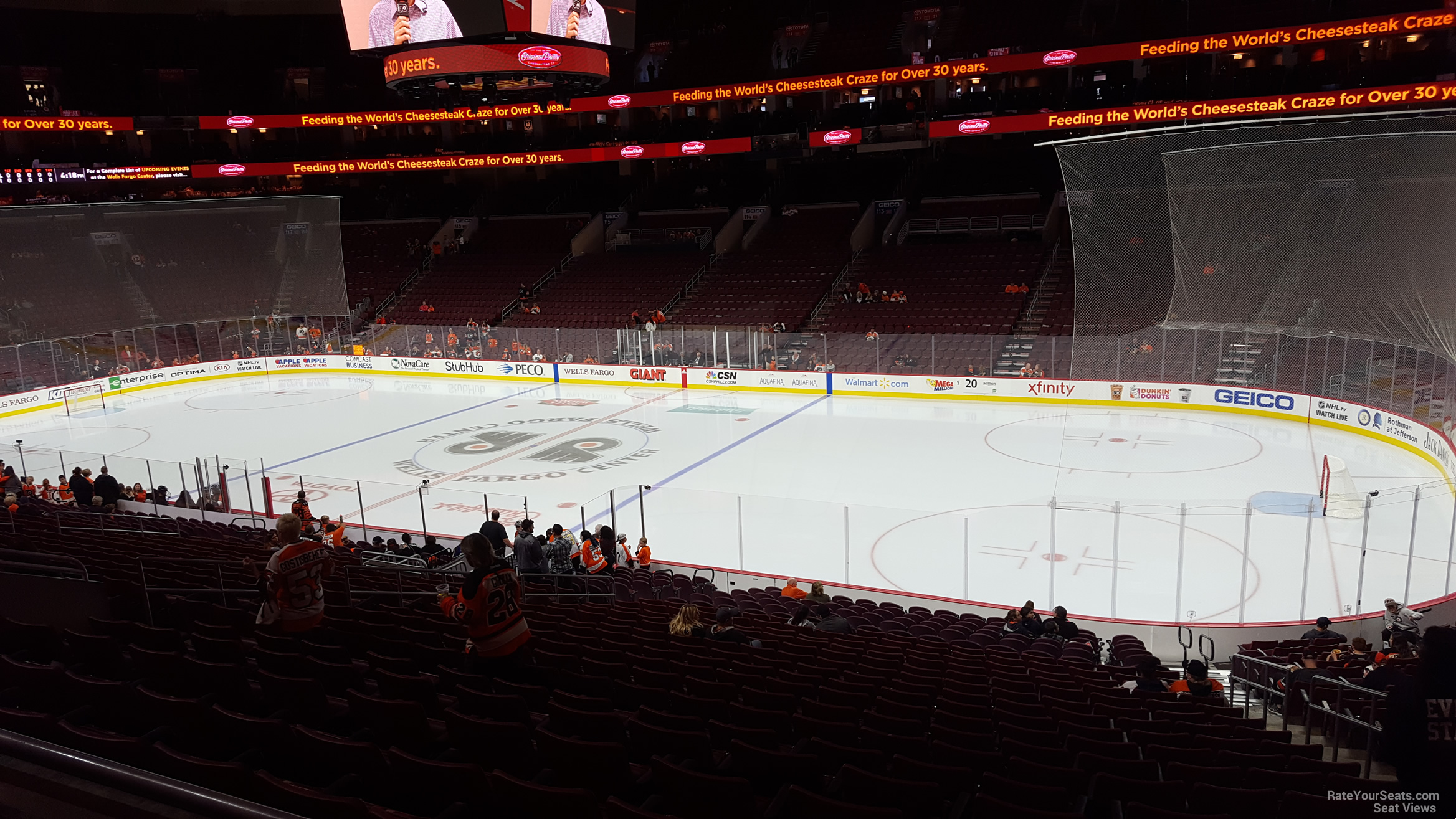 Philadelphia Flyers Seat View for Wells Fargo Center Club Box 3