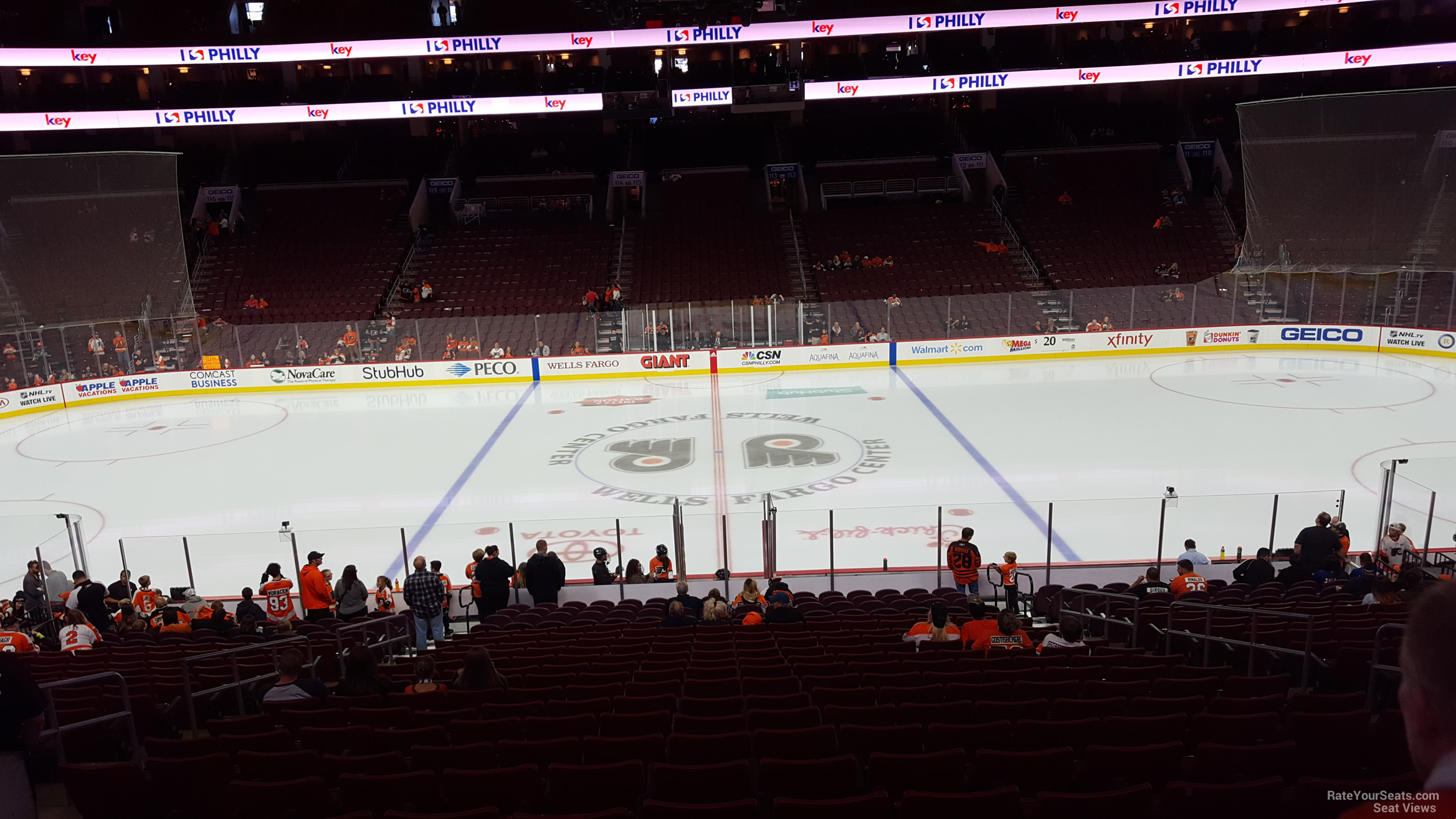 Philadelphia Flyers Seat View for Wells Fargo Center Super Box 1