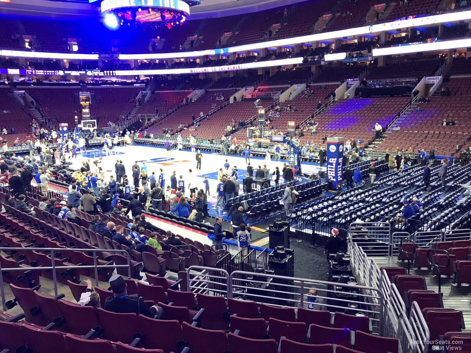 Basketball Seat View for Wells Fargo Center Section 104