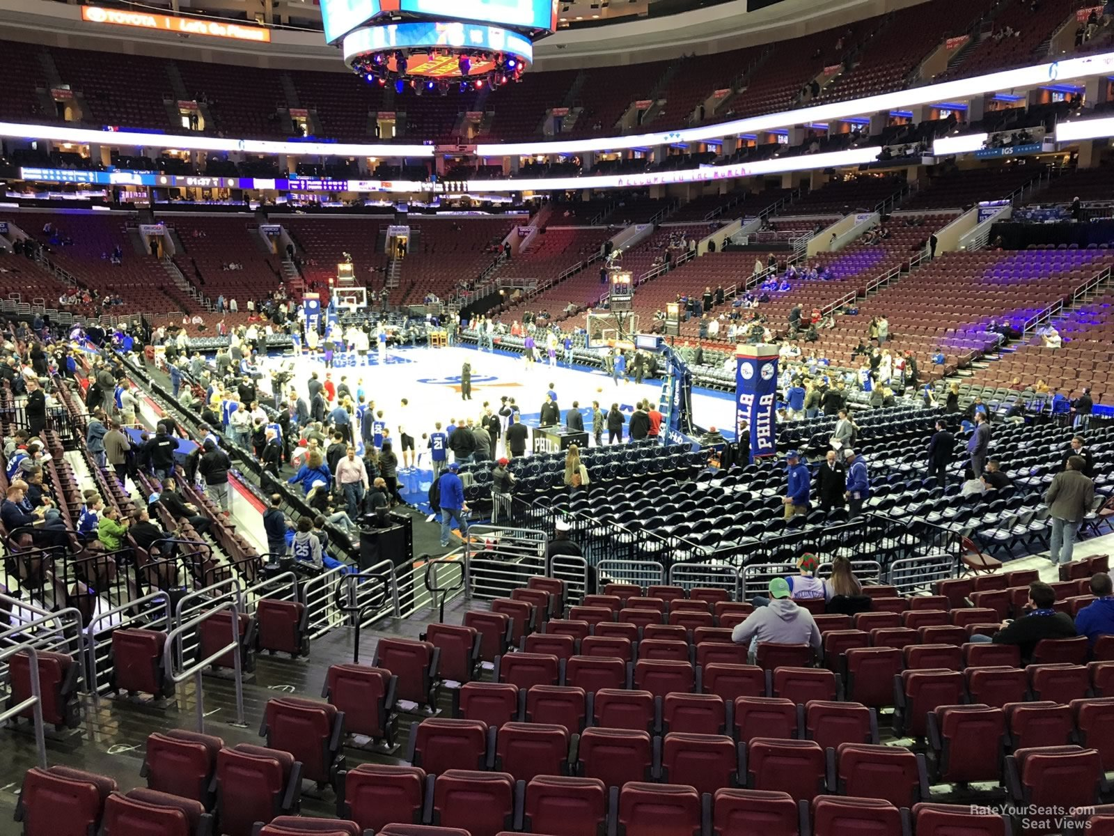 Basketball Seat View for Wells Fargo Center Section 105