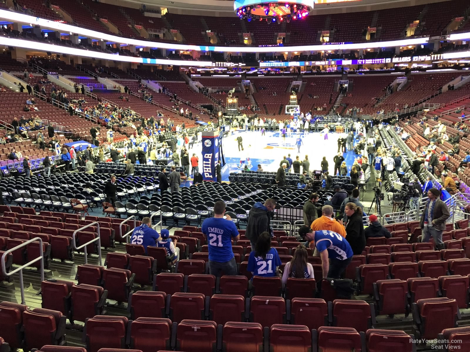 Basketball Seat View for Wells Fargo Center Section 108