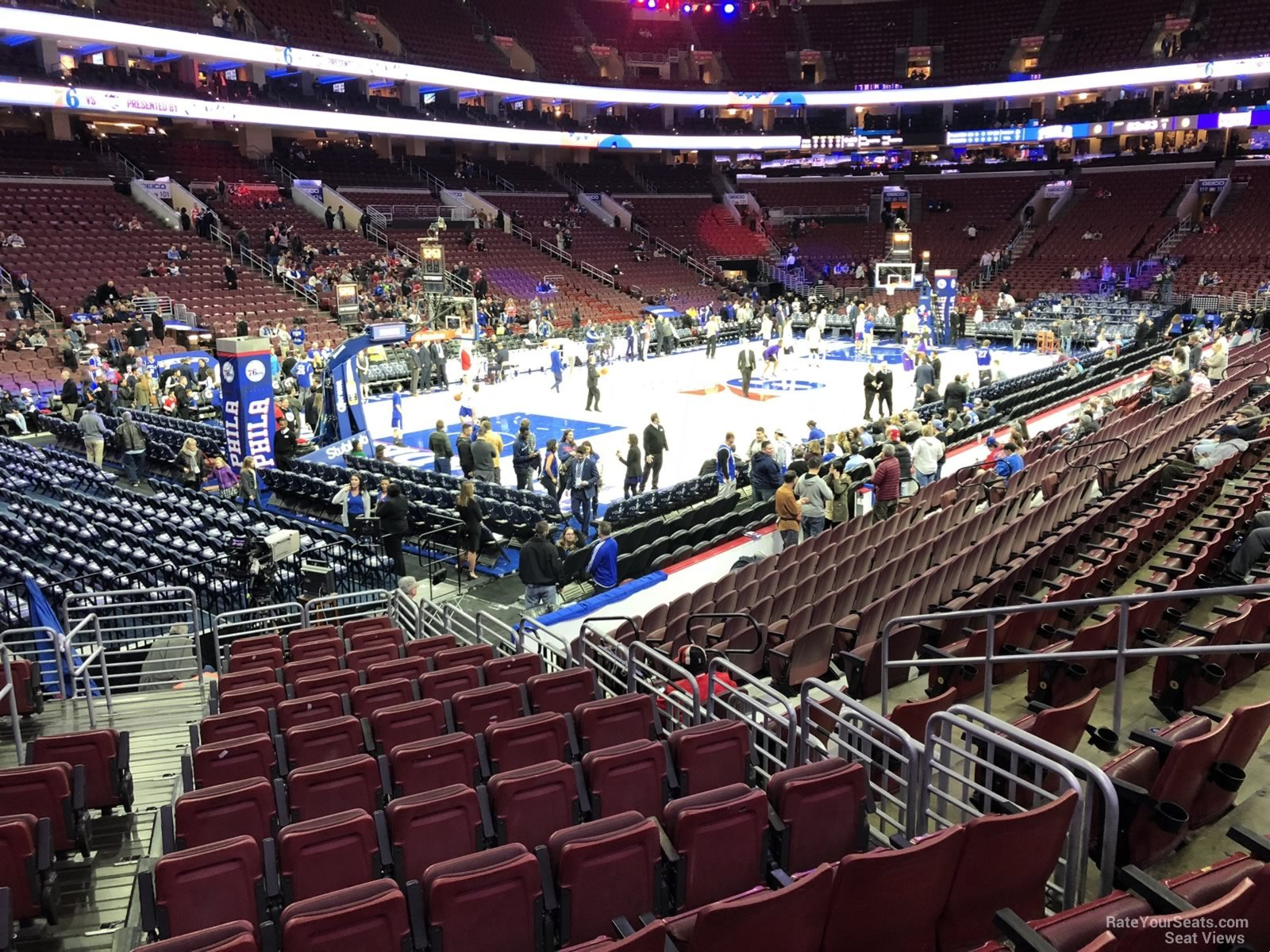 Basketball Seat View for Wells Fargo Center Section 110