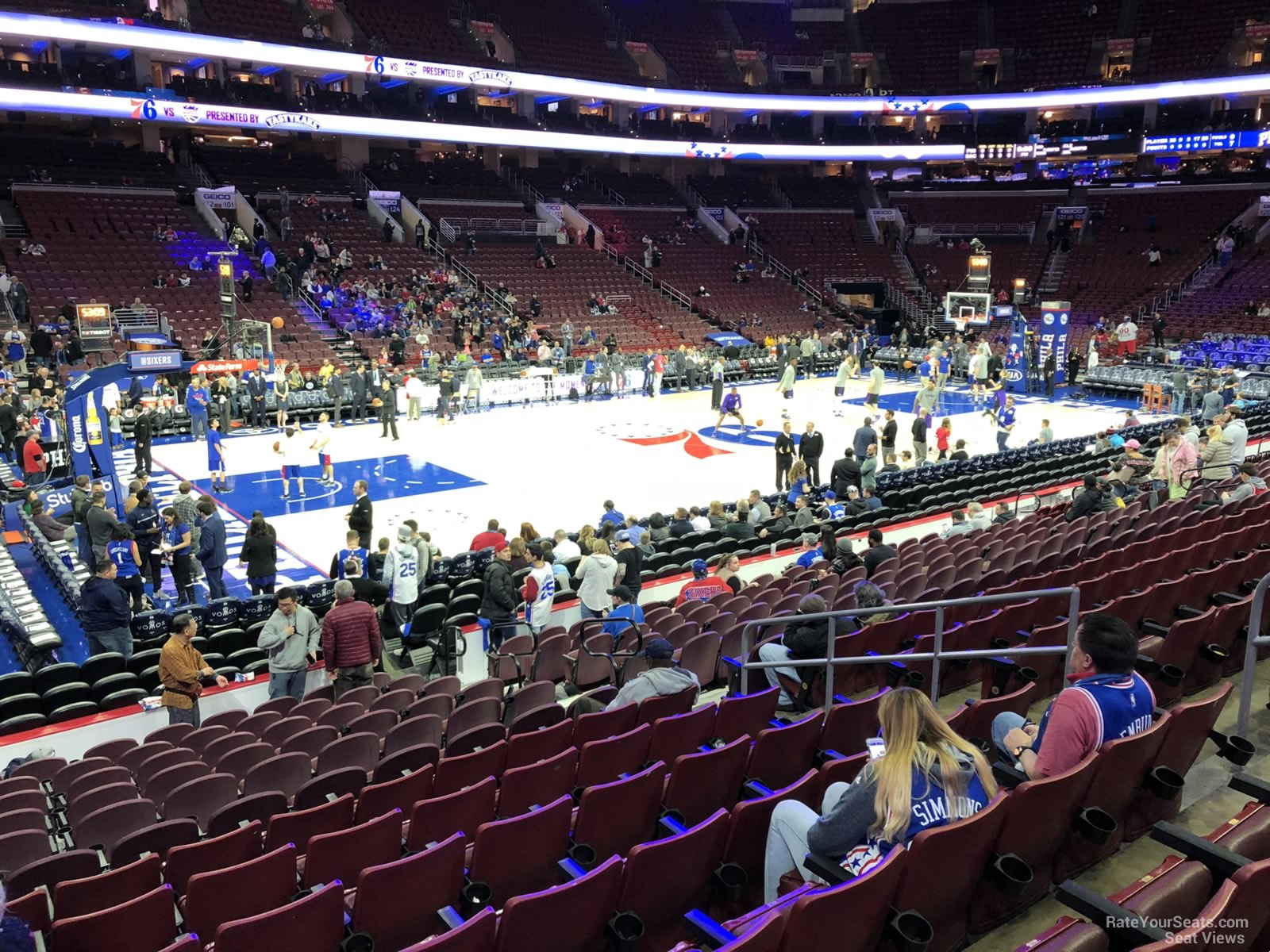 Basketball Seat View for Wells Fargo Center Section 111