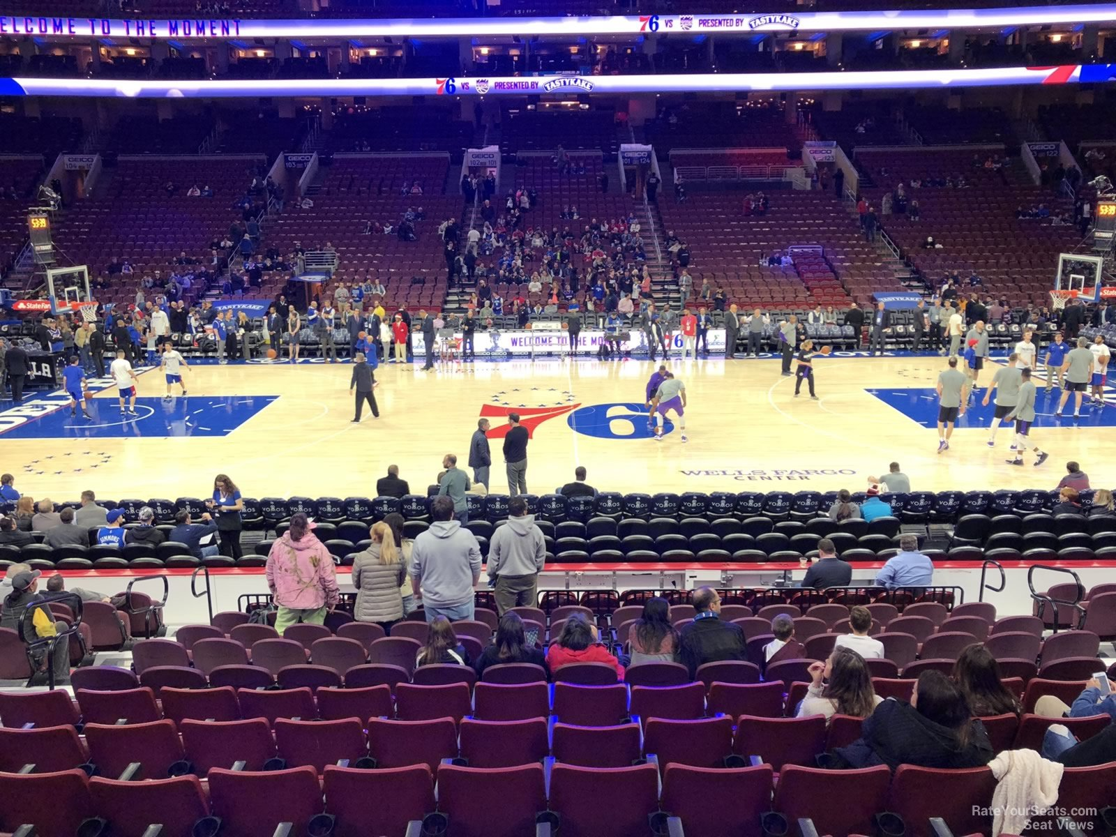 Basketball Seat View for Wells Fargo Center Section 113