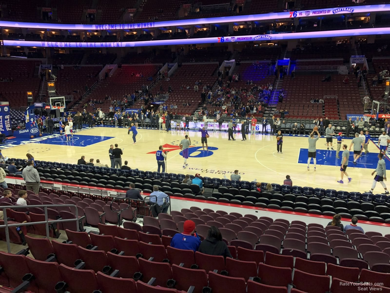 Philadelphia 76ers Seat View For Wells Fargo Center Section 114
