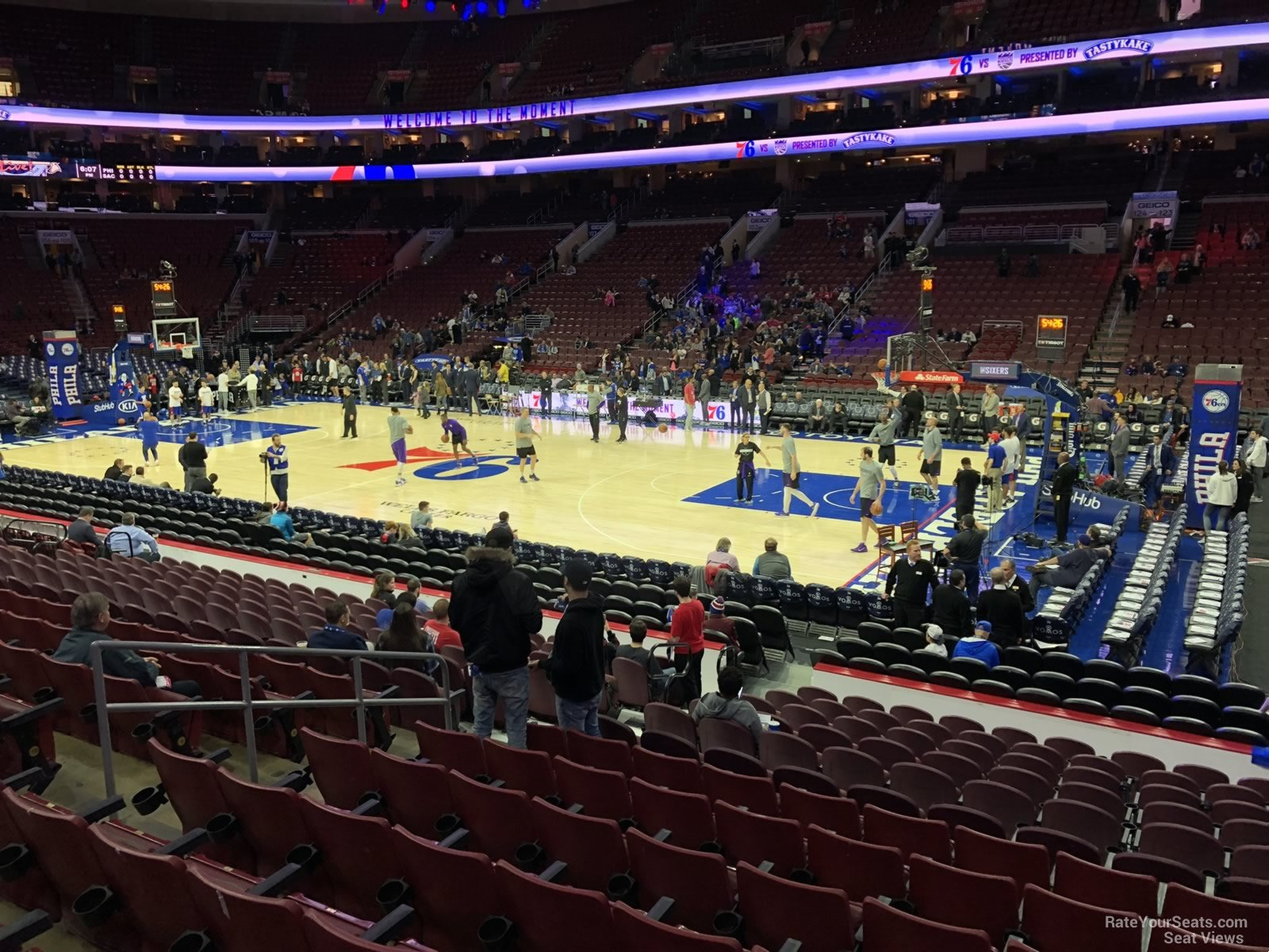 Philadelphia 76ers Seat View For Wells Fargo Center Section 115