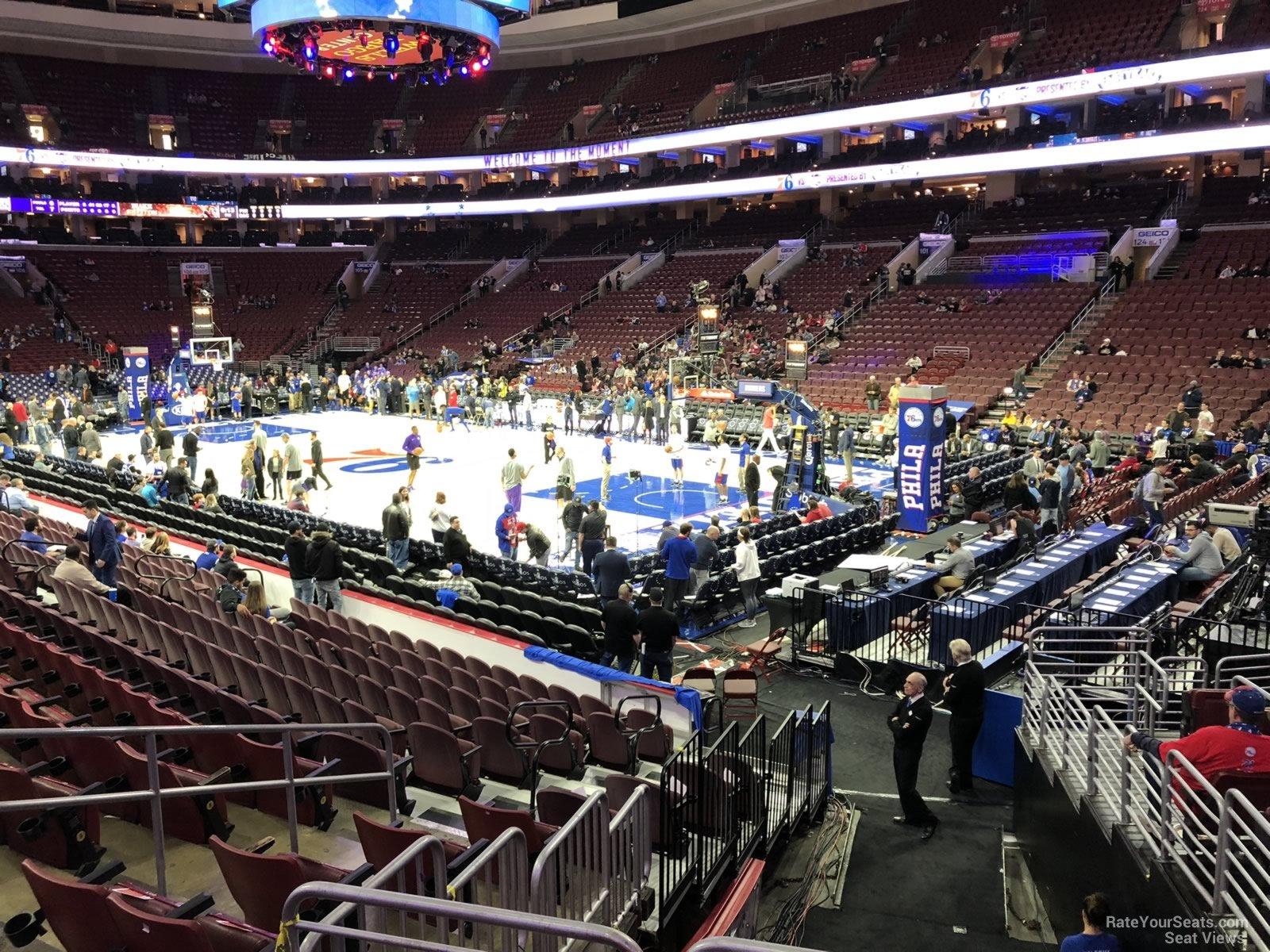 Philadelphia 76ers Seat View For Wells Fargo Center Section 116