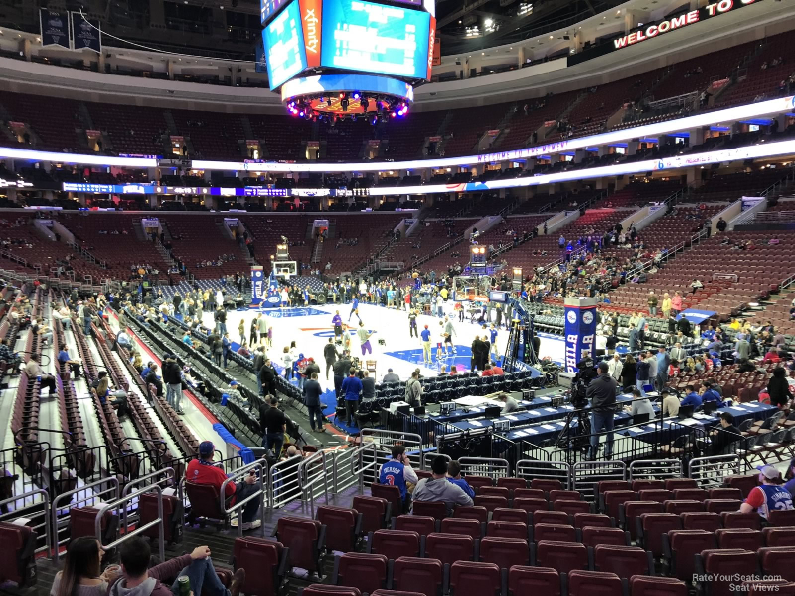 Basketball Seat View for Wells Fargo Center Section 117