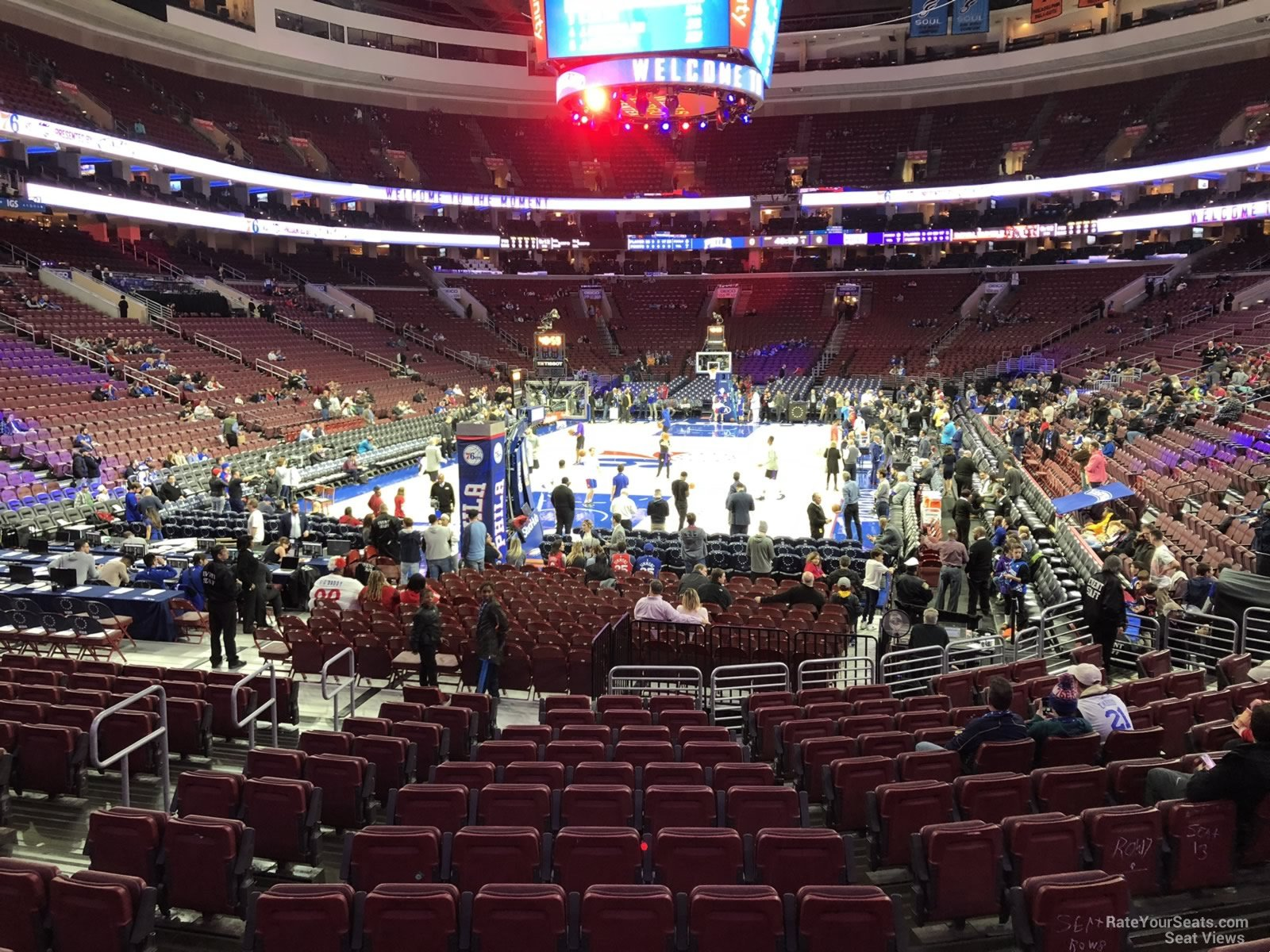 Basketball Seat View for Wells Fargo Center Section 120