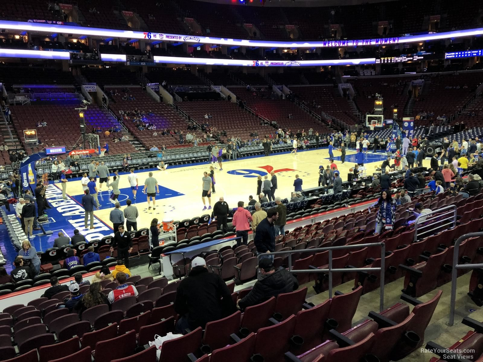 Basketball Seat View for Wells Fargo Center Section 123