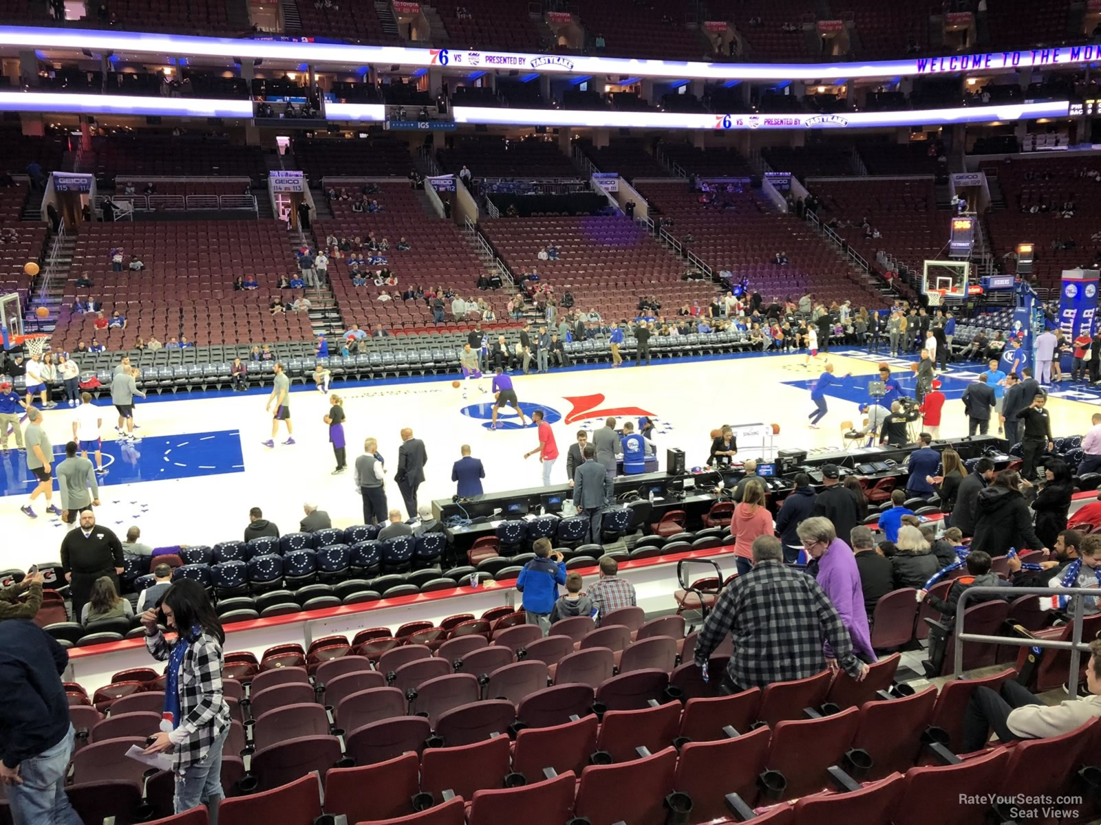 Basketball Seat View for Wells Fargo Center Section 124