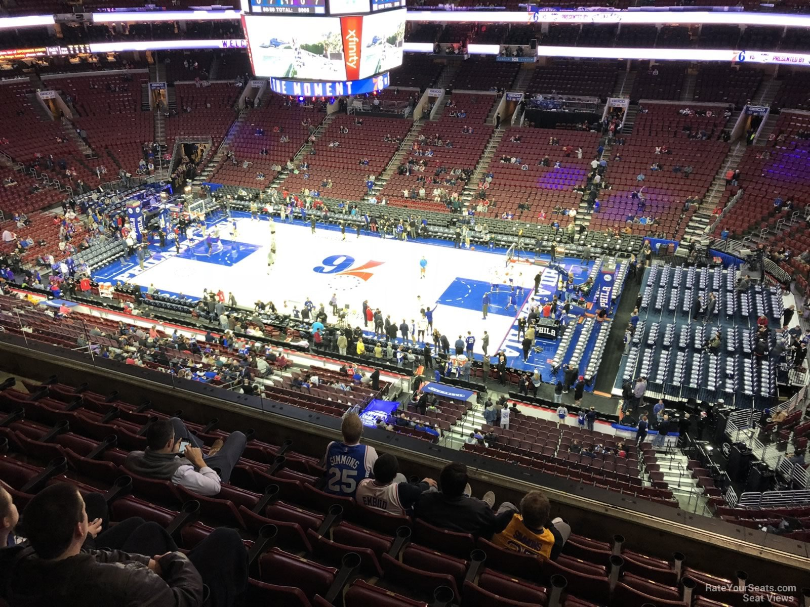 Basketball Seat View for Wells Fargo Center Section 203