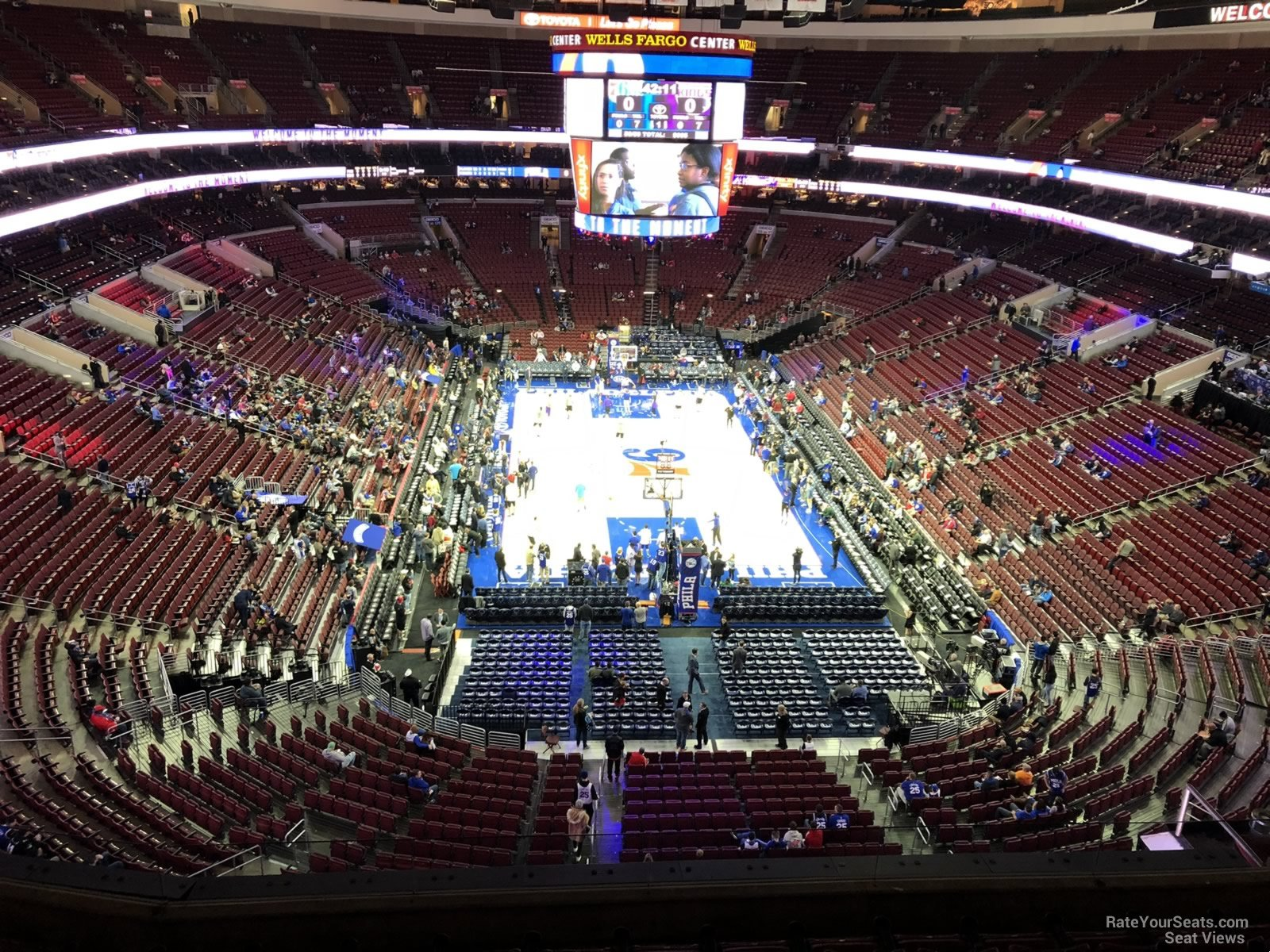 Philadelphia 76ers Seat View For Wells Fargo Center Section 207