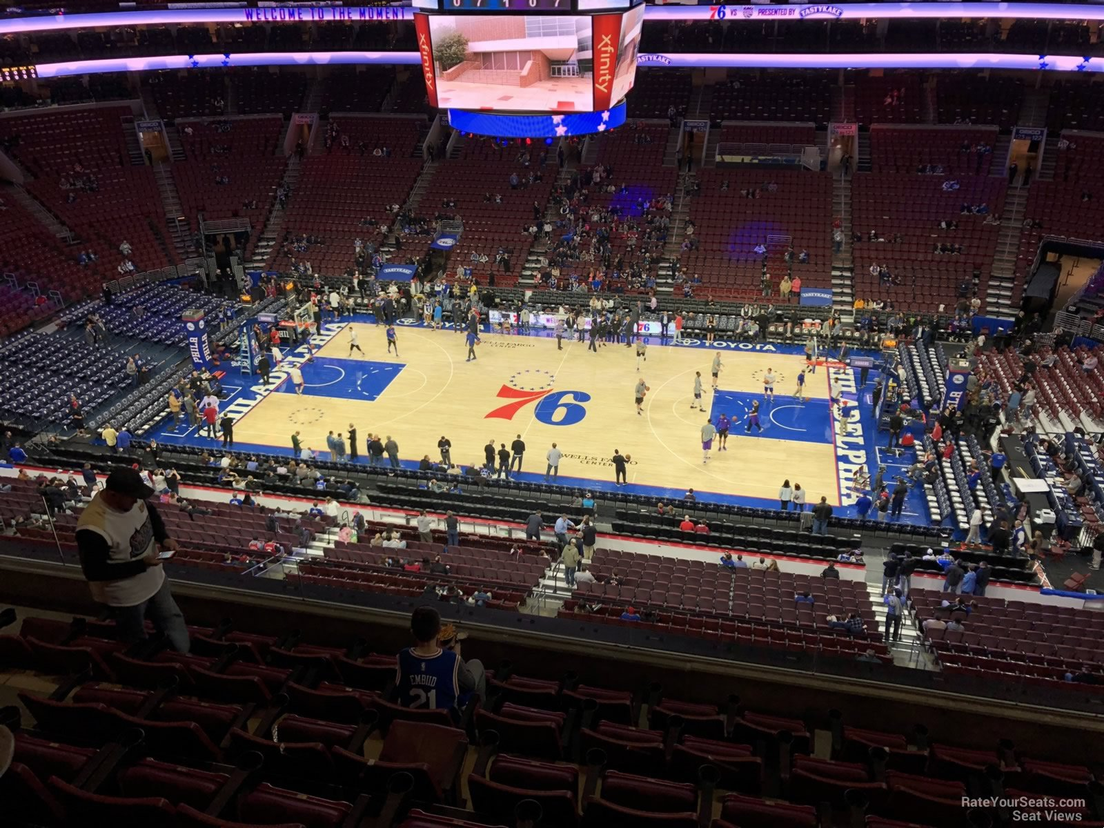 Basketball Seat View for Wells Fargo Center Section 214