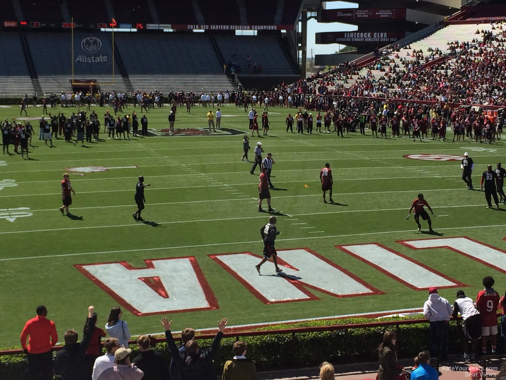 Seat View For Williams Brice Stadium Section 30
