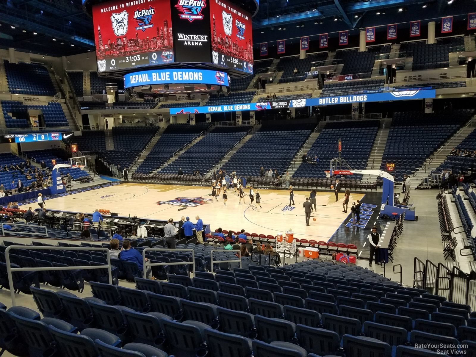 Seat View for Wintrust Arena Section 106, Row P