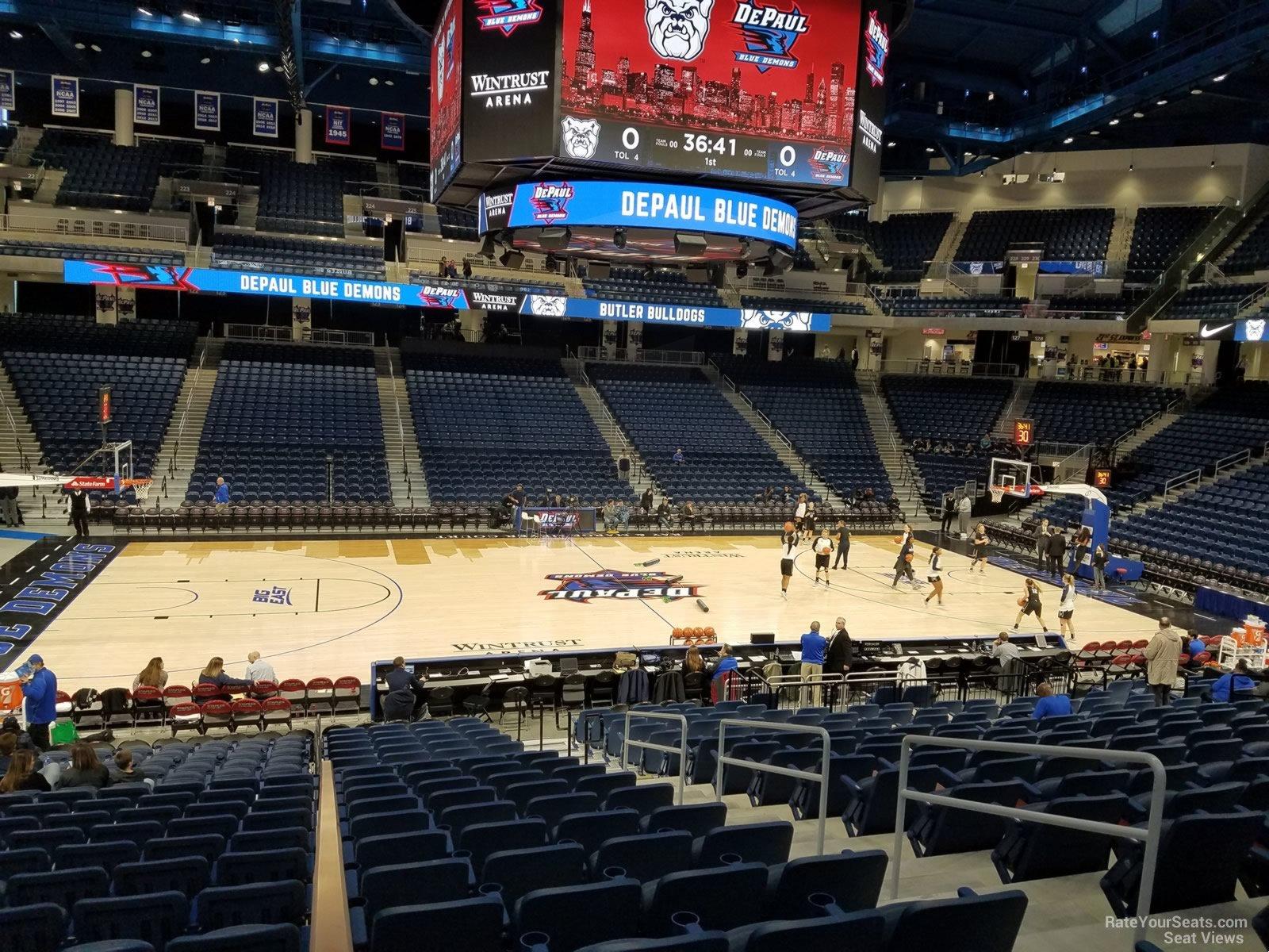Exterior: Wintrust Arena Section 110